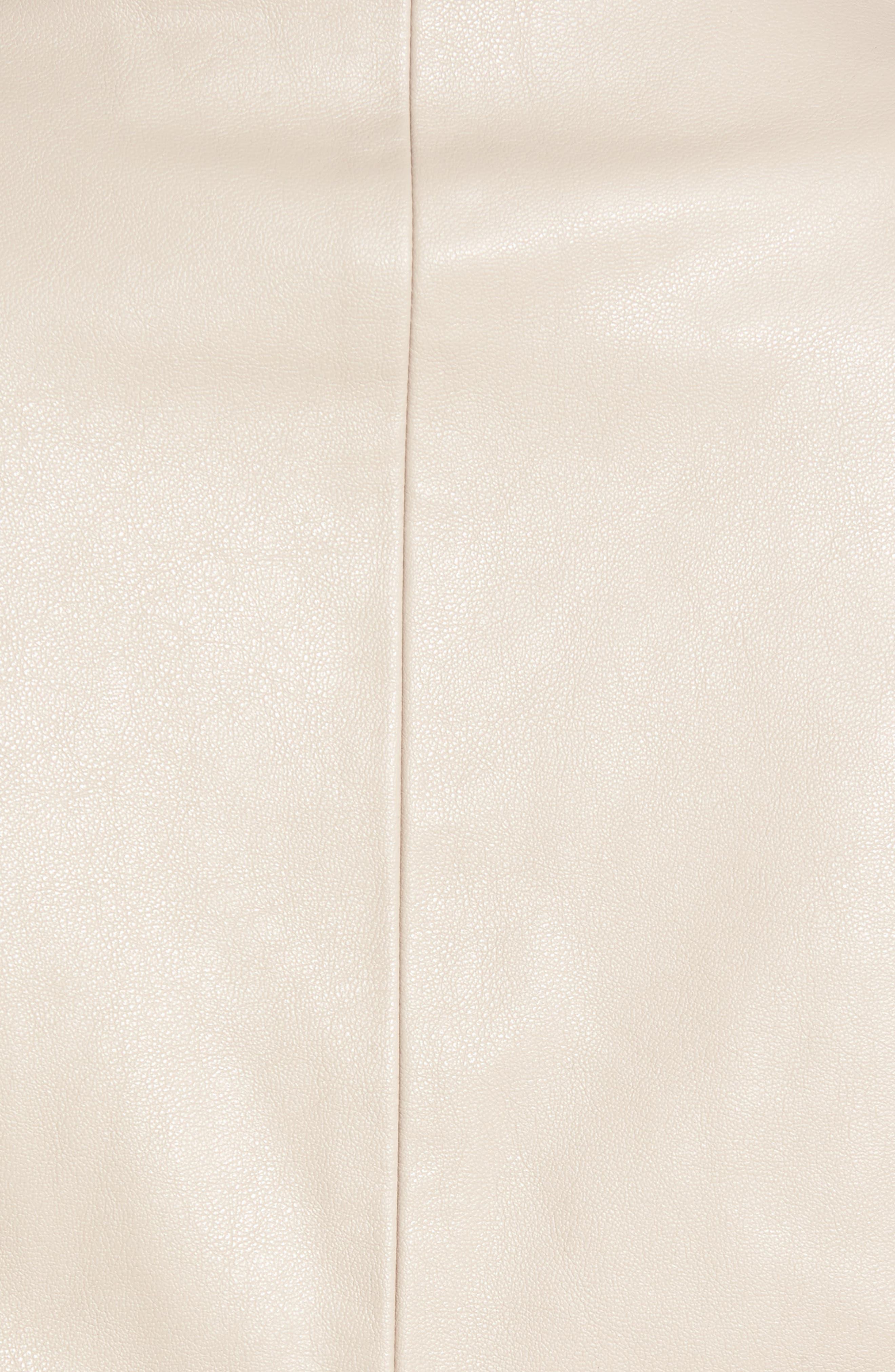 'Peppin' Drape Front Faux Leather Jacket,                             Alternate thumbnail 41, color,