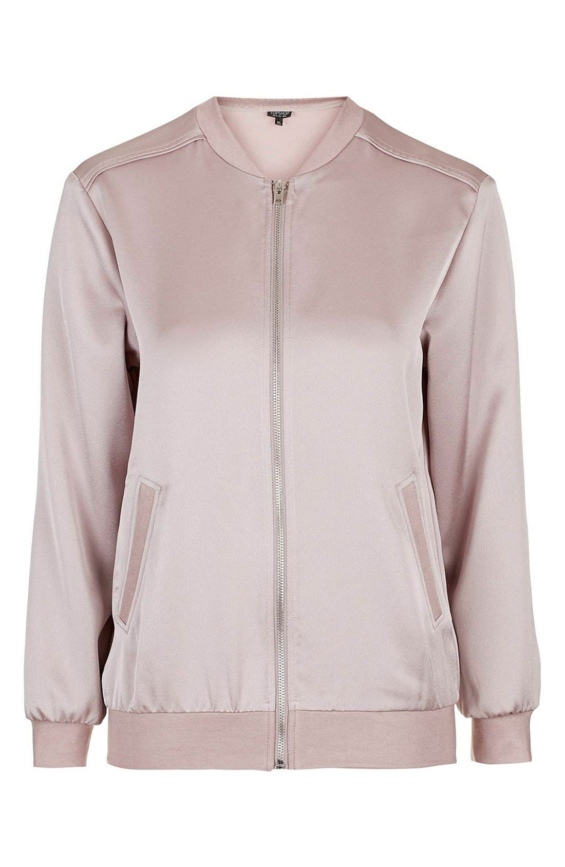 Satin Bomber Jacket,                             Alternate thumbnail 28, color,