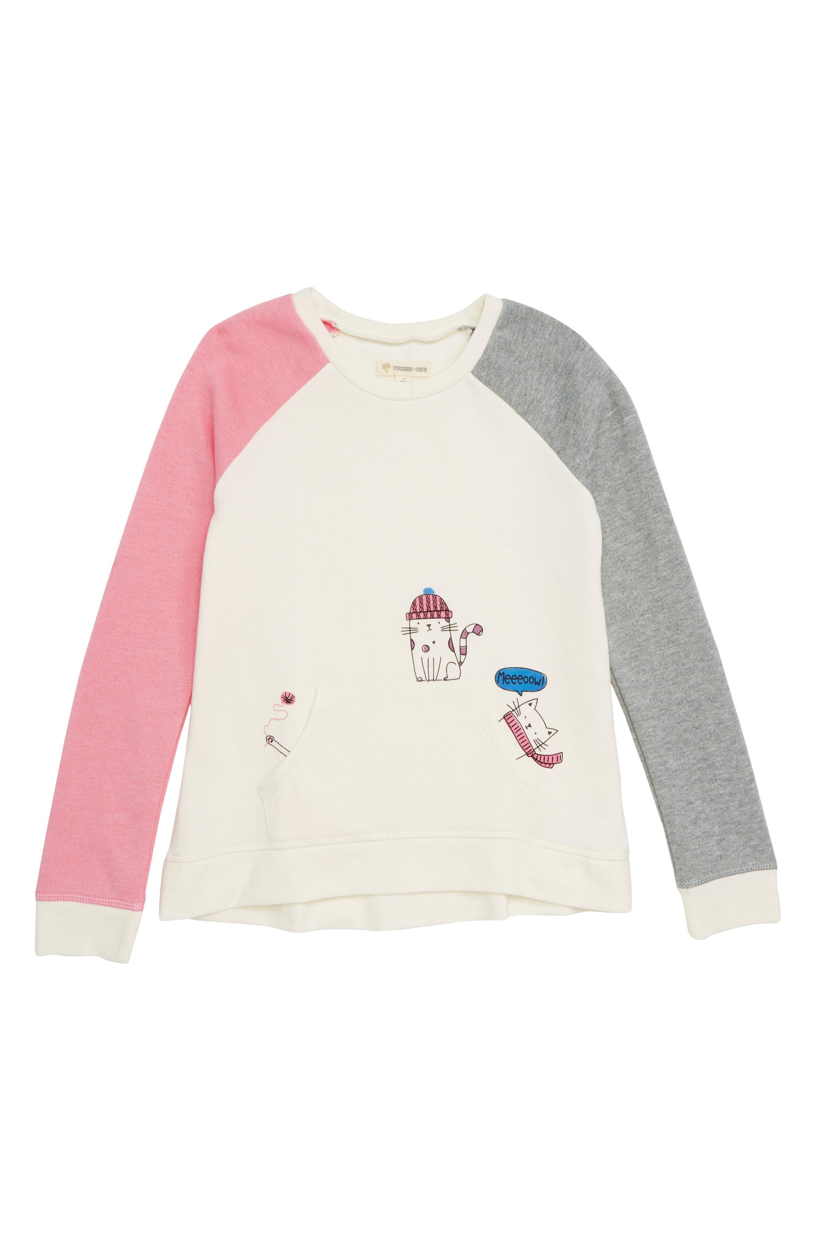 Colorblock Fleece Sweatshirt,                             Main thumbnail 1, color,                             900