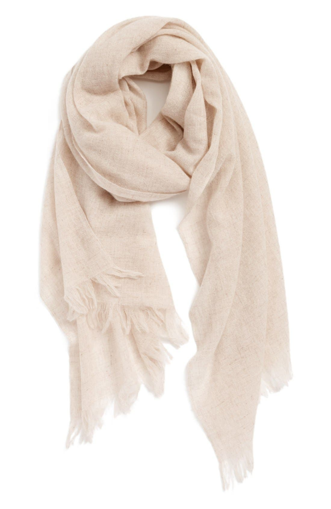 Caslon<sup>®</sup> Heathered Cashmere Gauze Scarf,                             Main thumbnail 3, color,