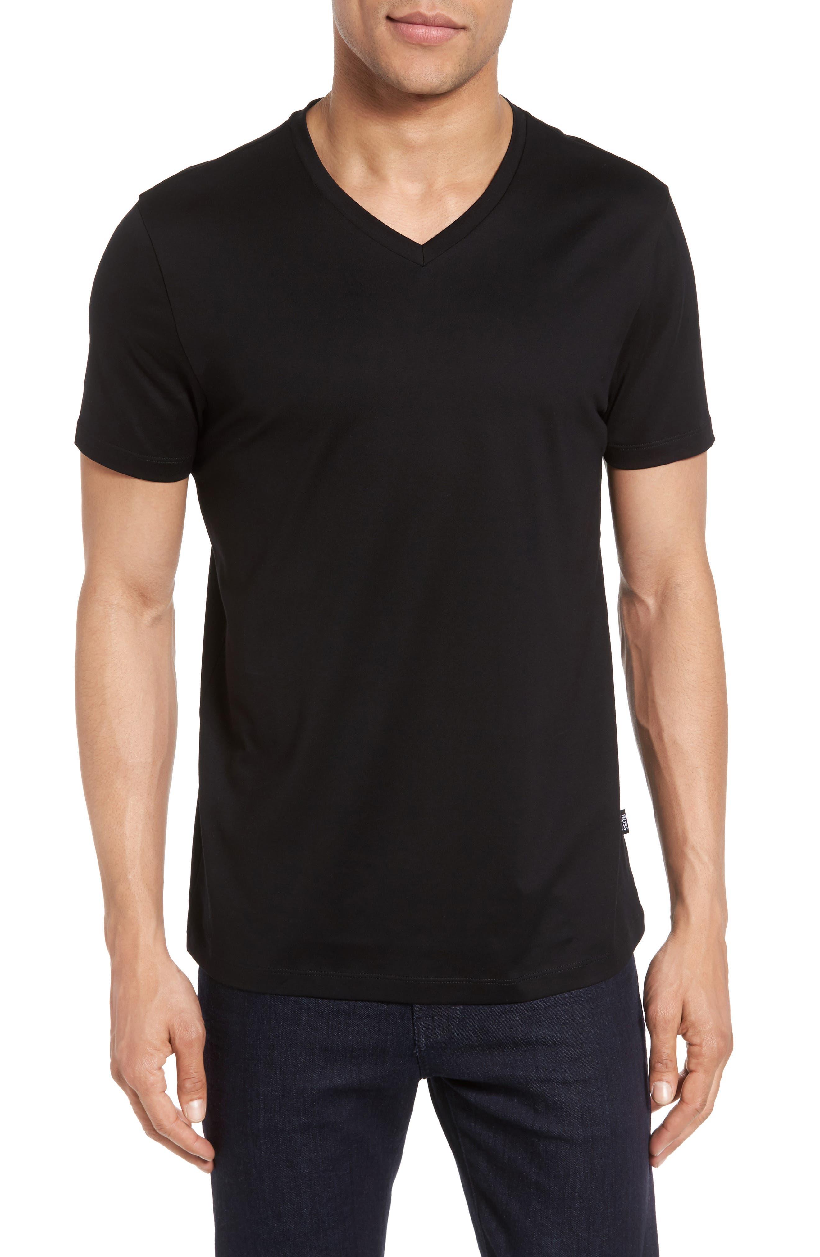 V-Neck T-Shirt,                             Main thumbnail 1, color,                             001