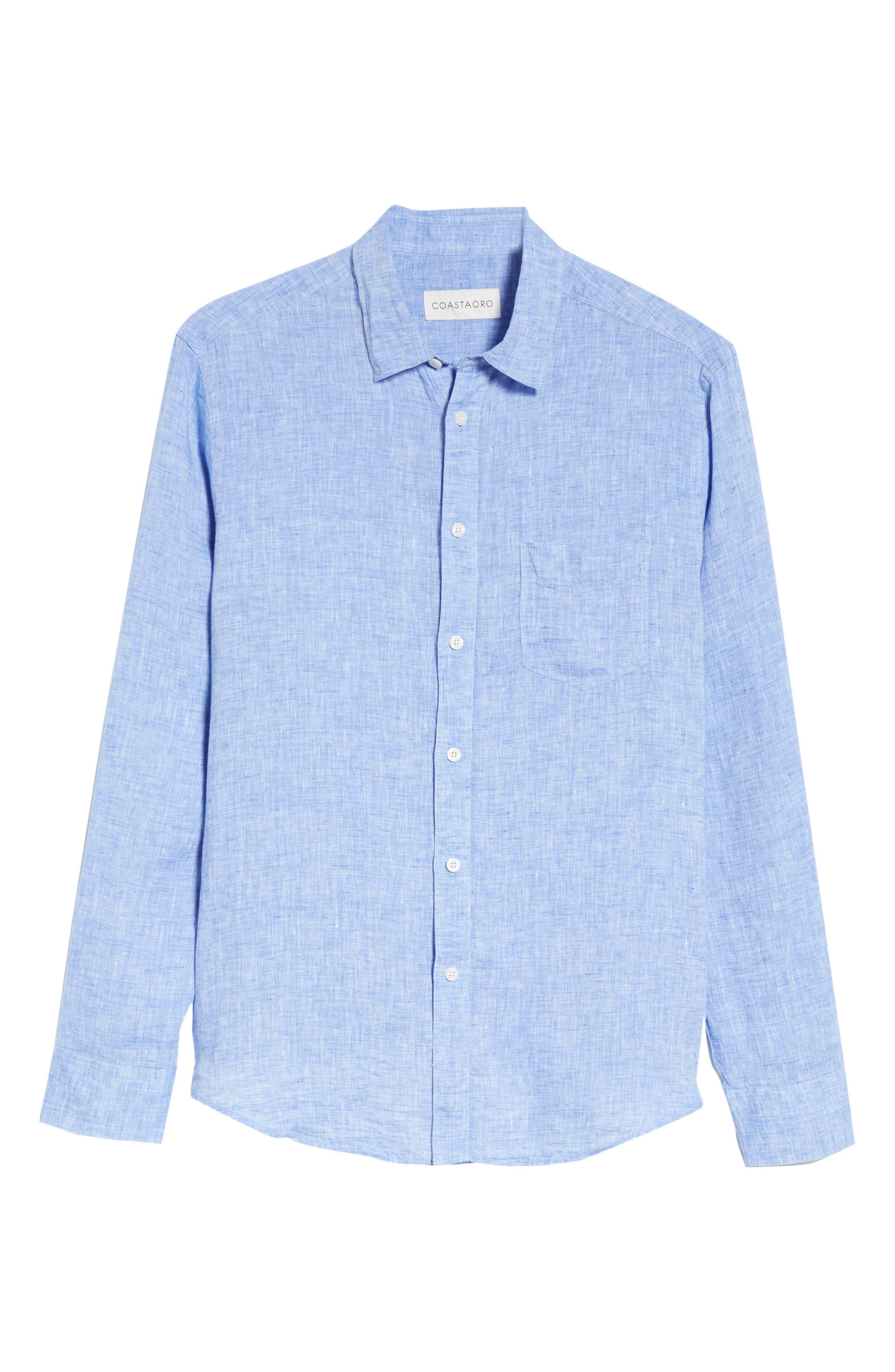 Regular Fit Solid Linen Sport Shirt,                             Alternate thumbnail 12, color,