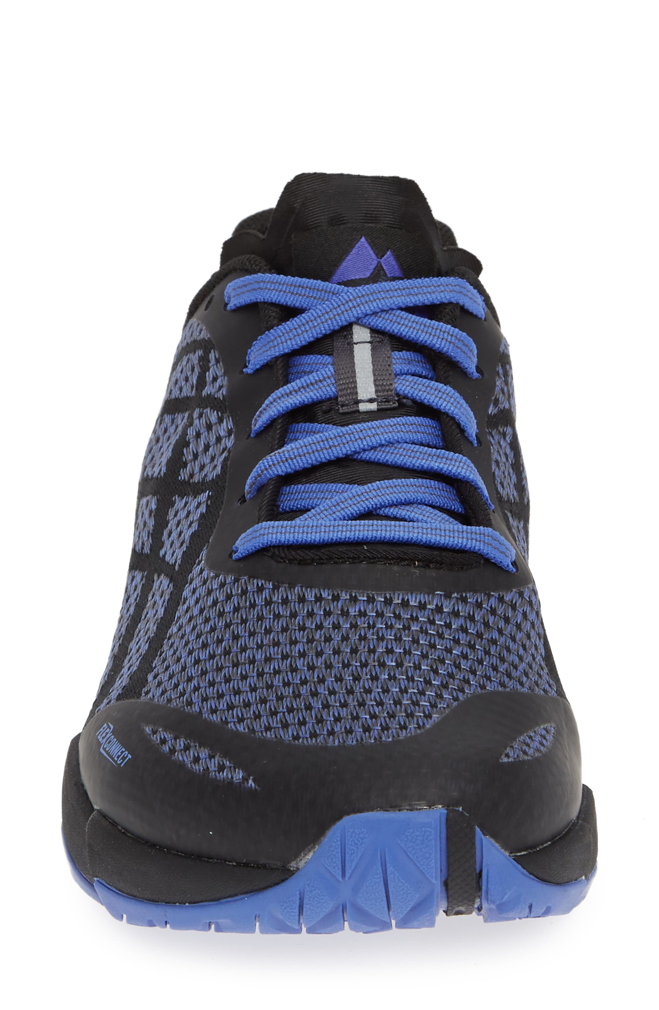 MERRELL,                             Bare Access Flex Shield Lace-Up Sneaker,                             Alternate thumbnail 4, color,                             BLACK AND WHITE FABRIC