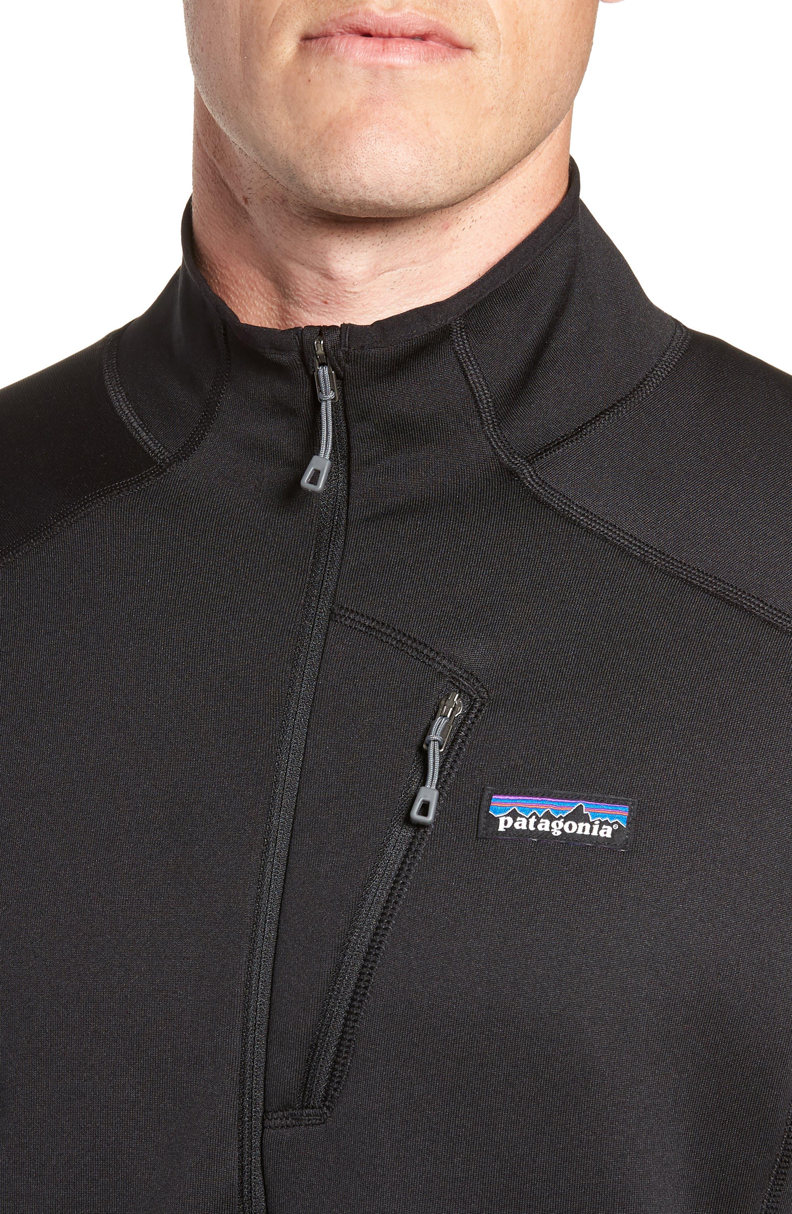 Crosstrek Quarter Zip Fleece Pullover,                             Alternate thumbnail 4, color,                             BLACK