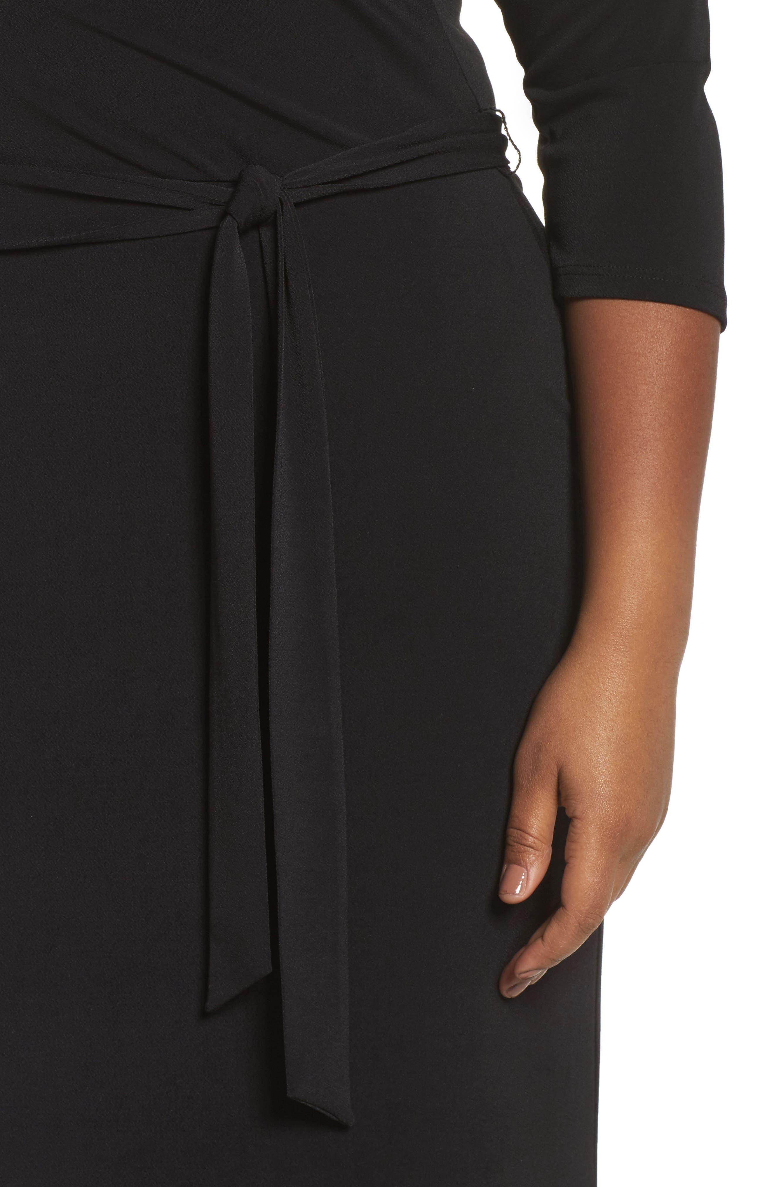 Perfect Faux Wrap Maxi Dress,                             Alternate thumbnail 4, color,                             002