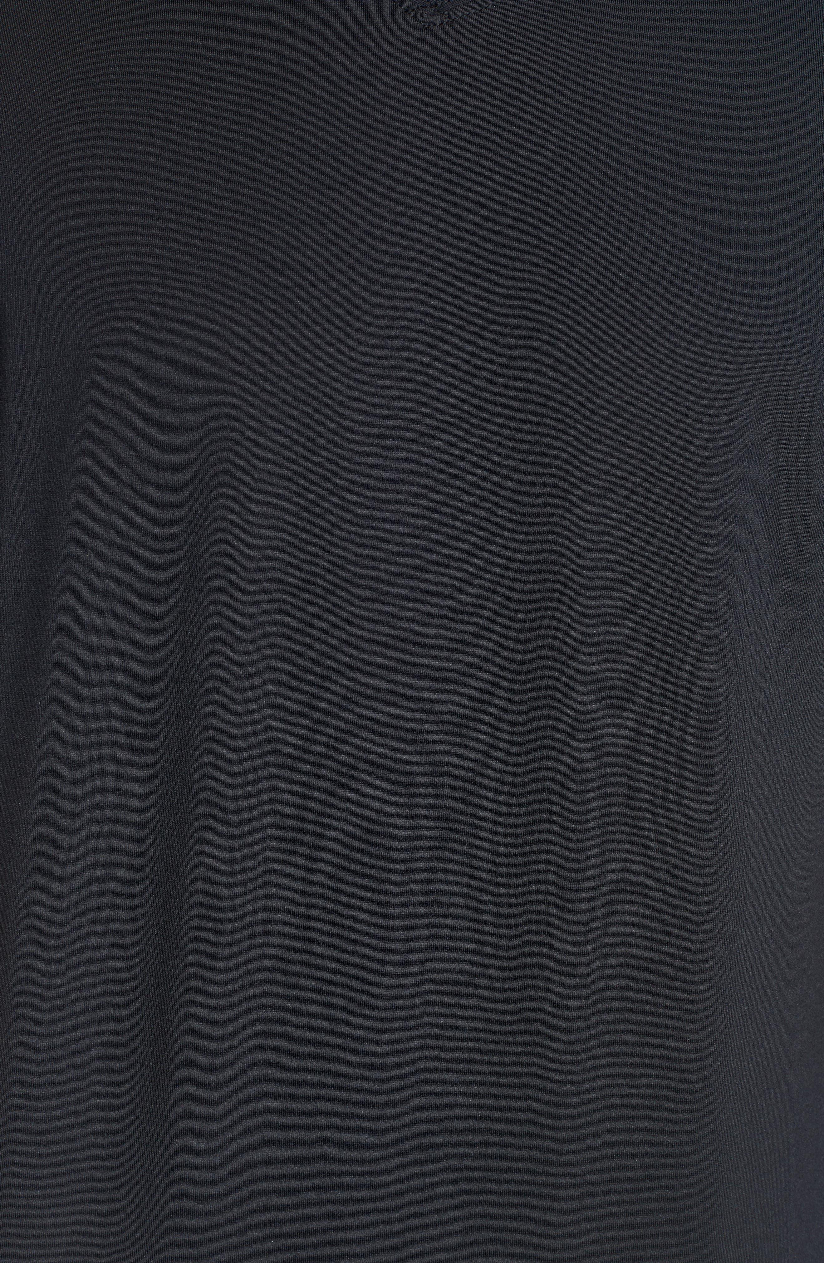 Potholder V-Neck T-Shirt,                             Alternate thumbnail 5, color,                             BLACK