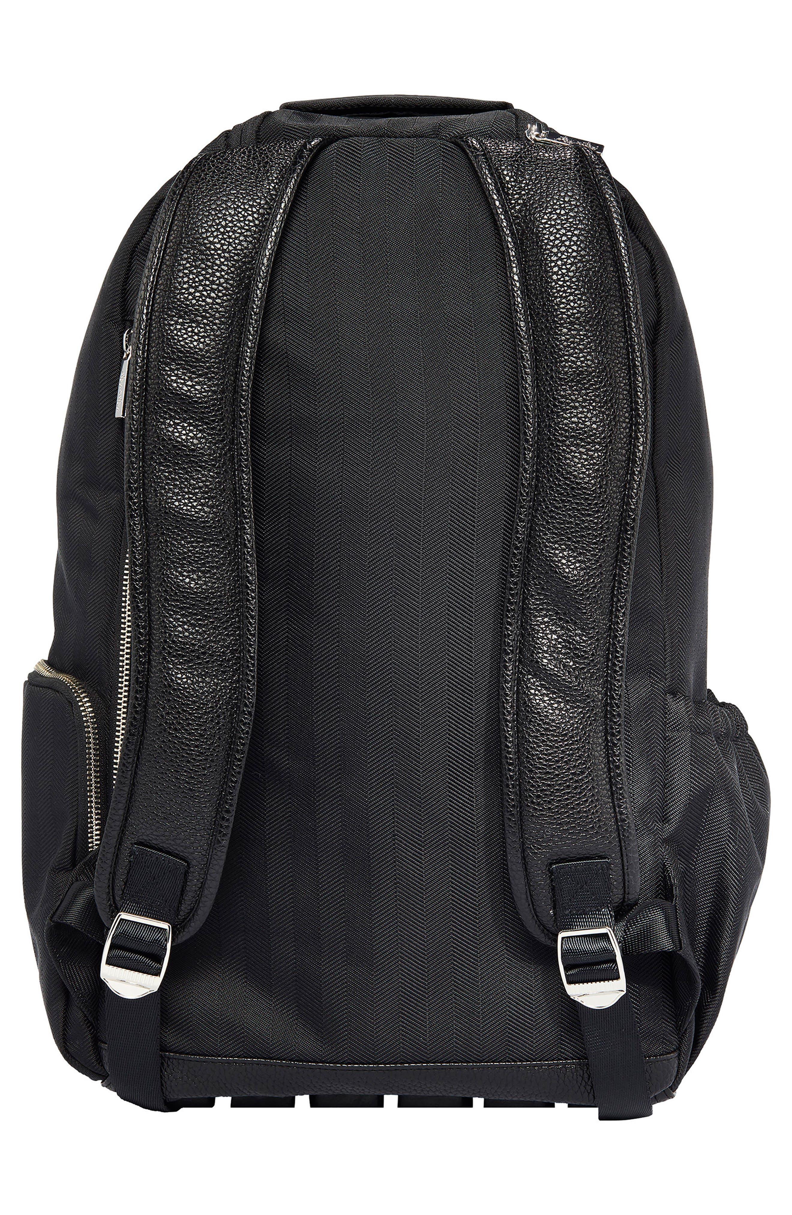 Diaper Bag Backpack,                             Alternate thumbnail 2, color,                             BLACK HERRINGBONE