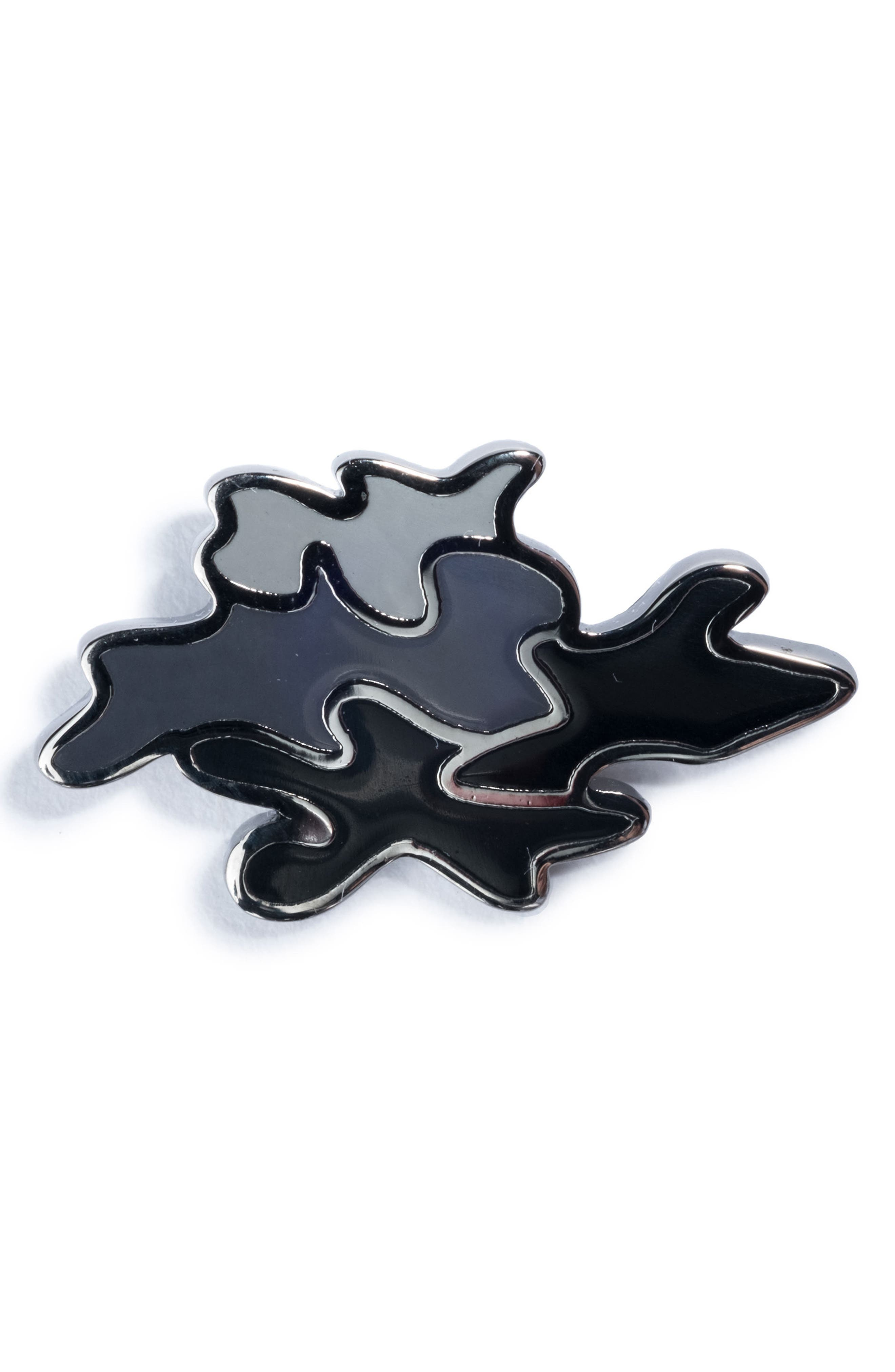 Camo Lapel Pin,                         Main,                         color, GREY