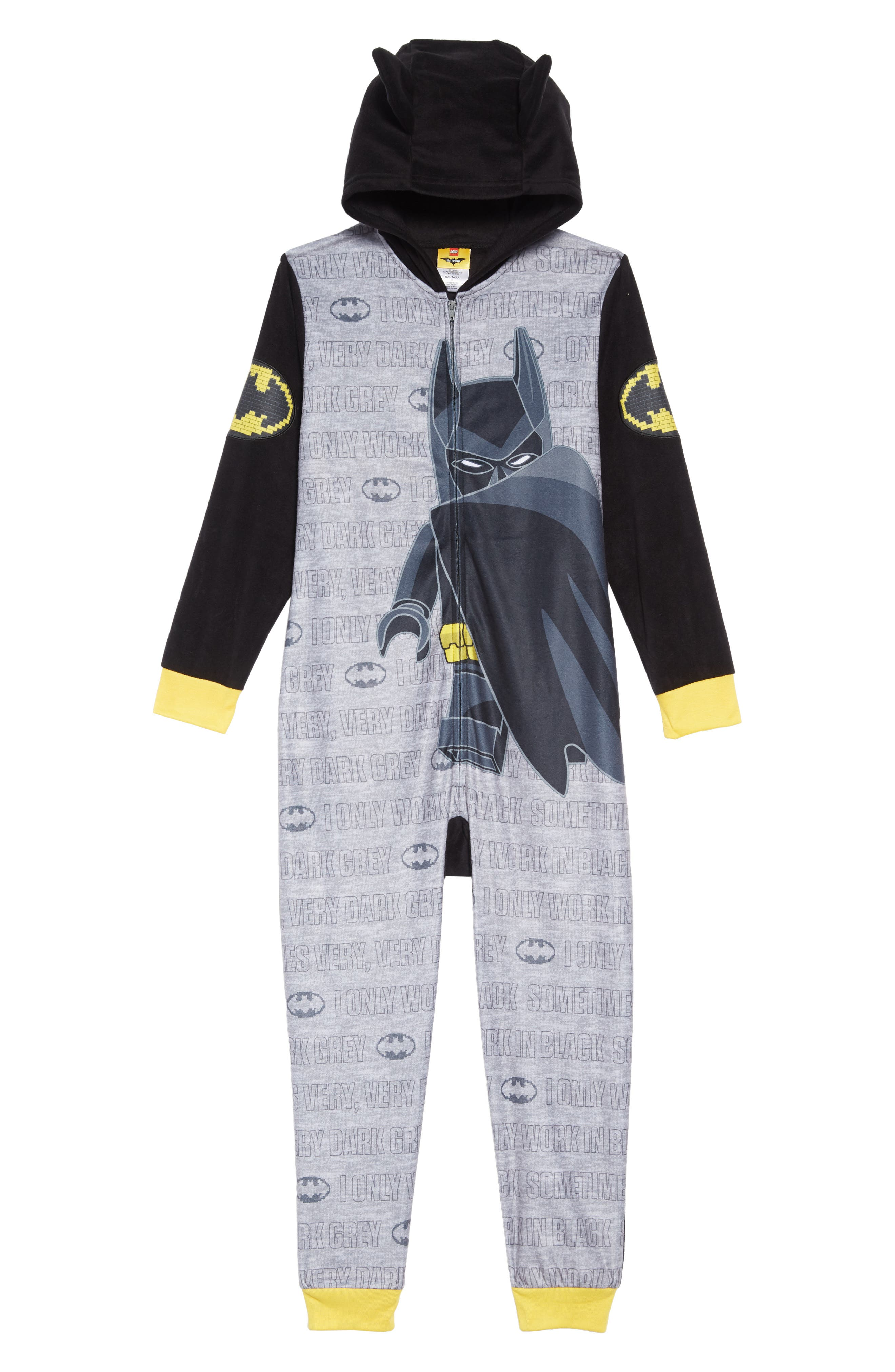 Boys Lego Batman Fitted OnePiece Hooded Pajamas