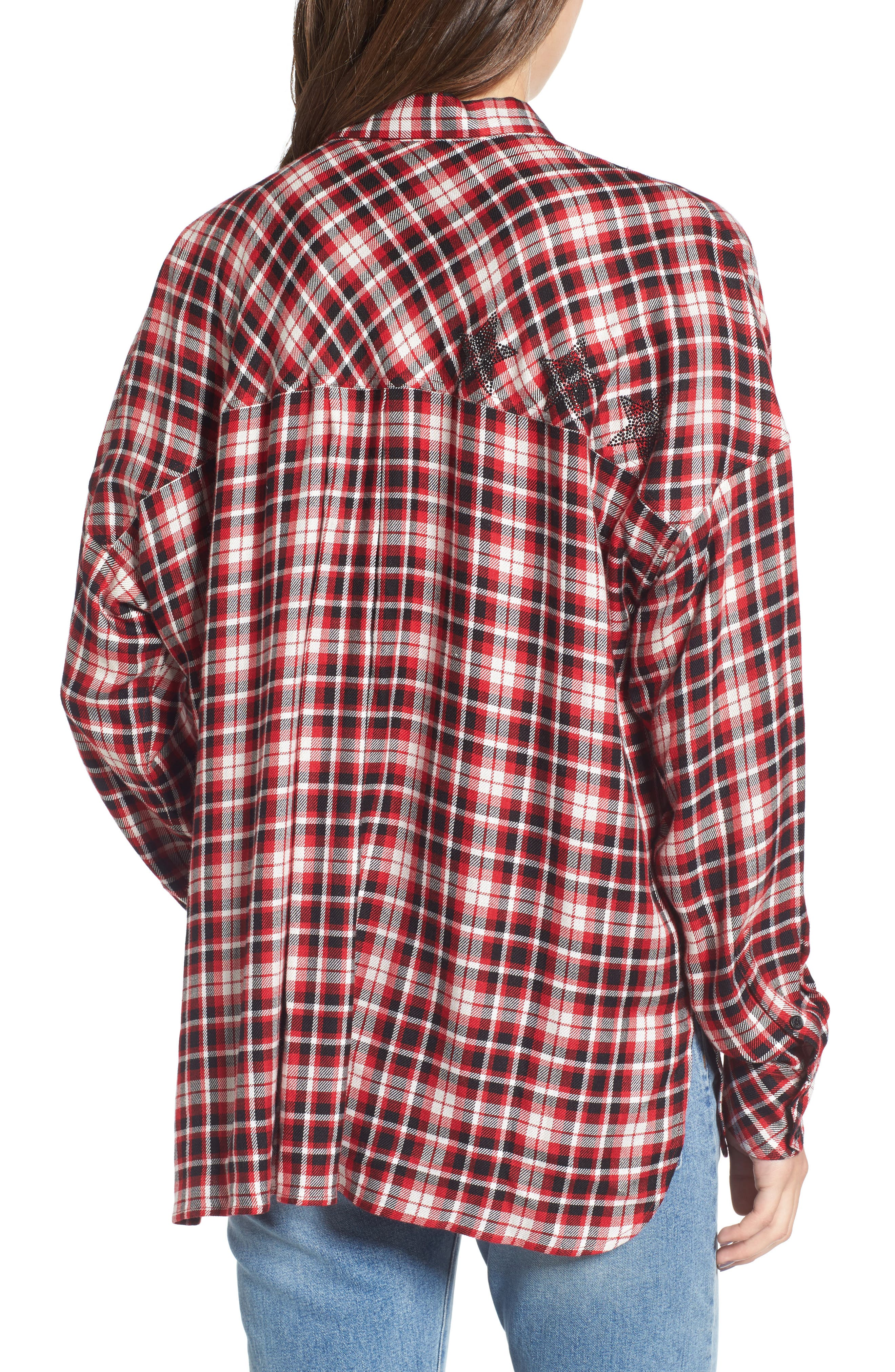 Tamara Car Plaid Shirt,                             Alternate thumbnail 2, color,