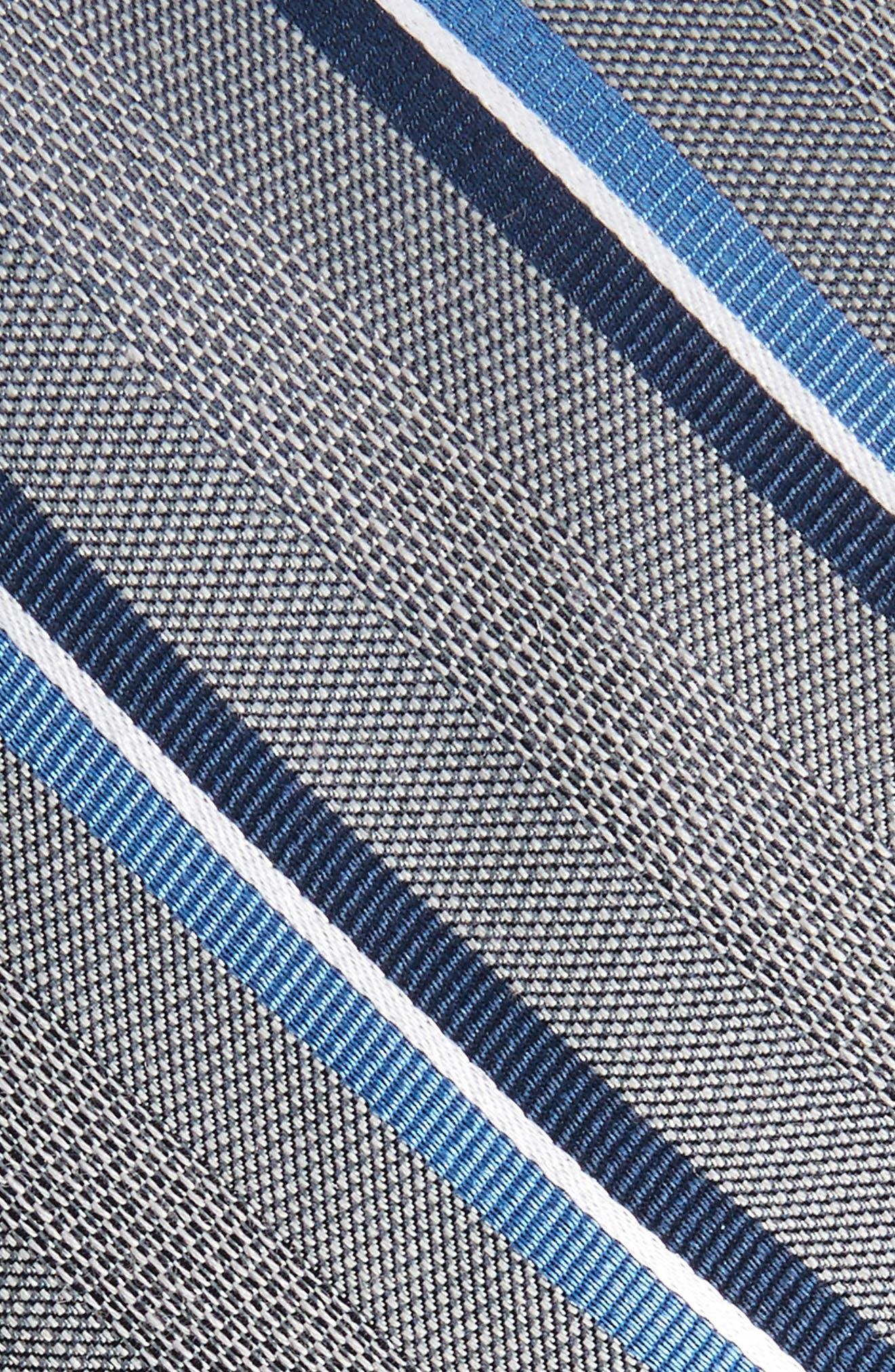 Short Cut Stripe Silk & Wool Skinny Tie,                             Alternate thumbnail 2, color,                             030