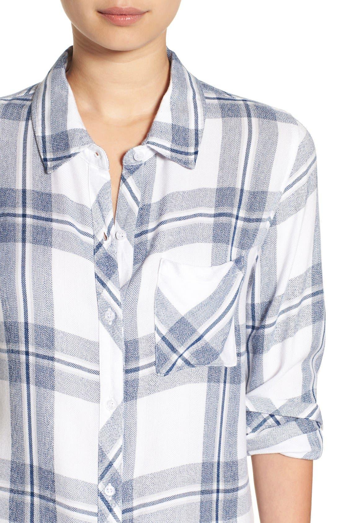 Hunter Plaid Shirt,                             Alternate thumbnail 650, color,
