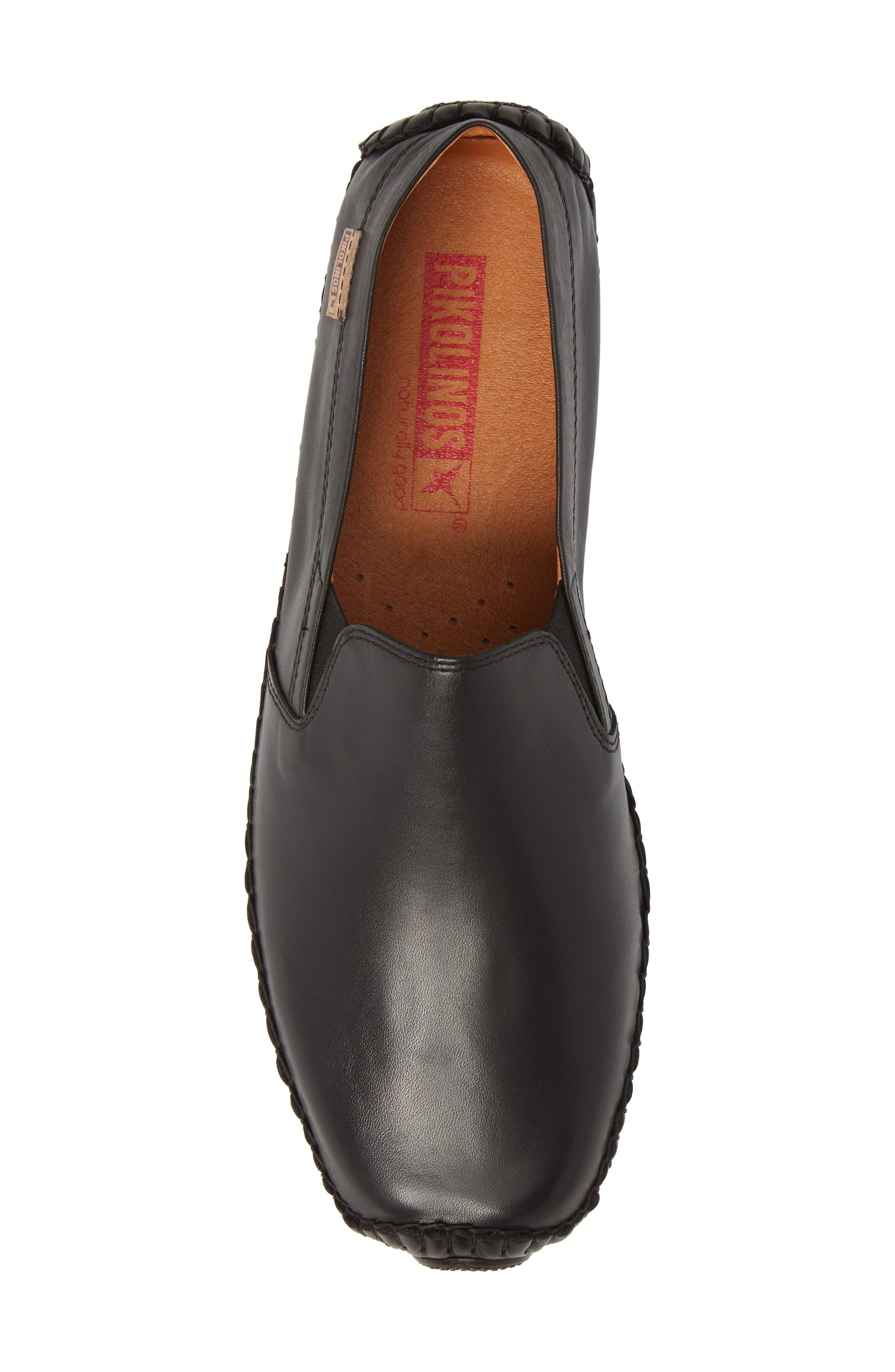 Jerez Driving Shoe,                             Alternate thumbnail 5, color,                             BLACK LEATHER