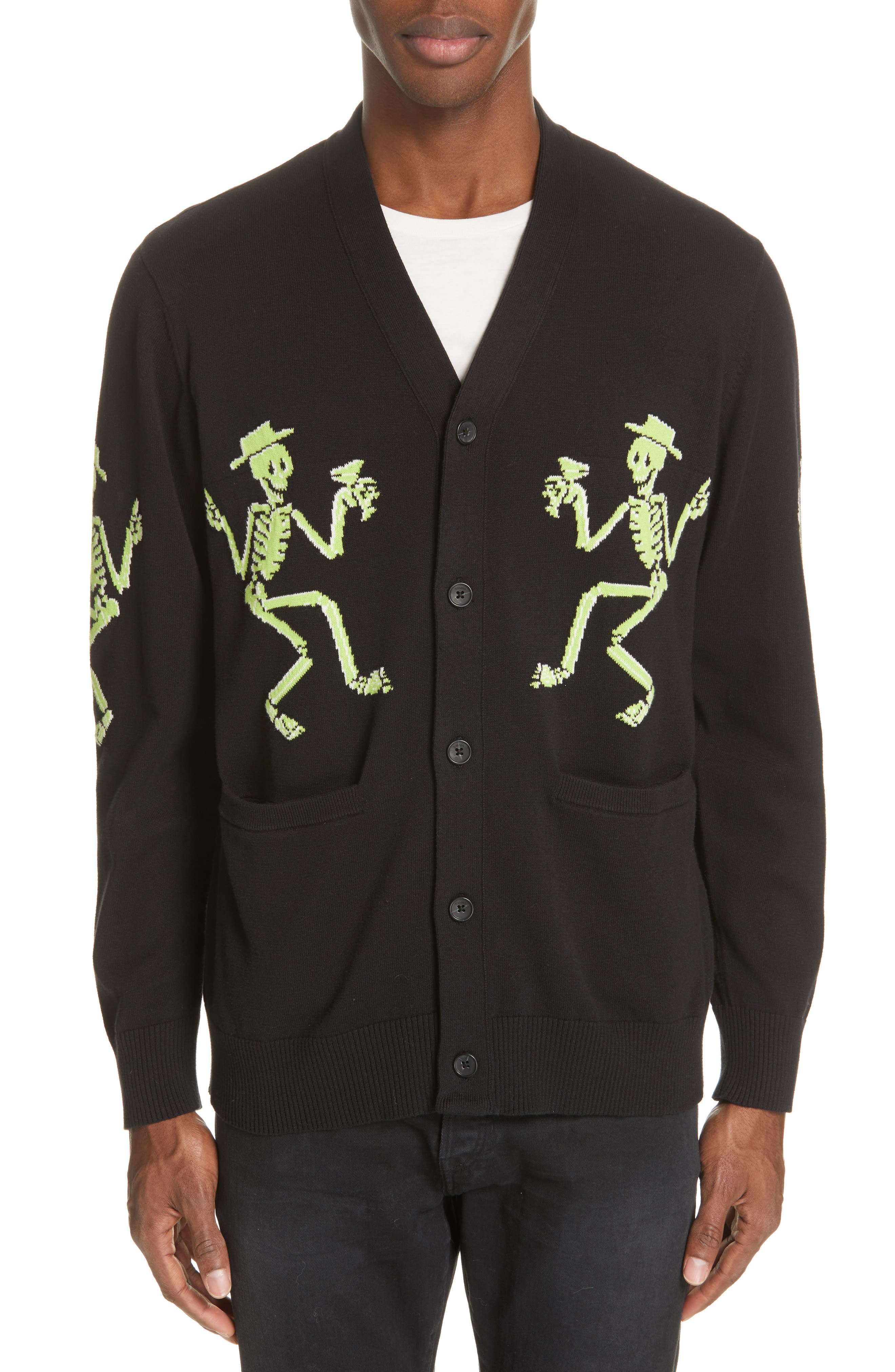 Ovadia & Sons Skeleton Cardigan, Black