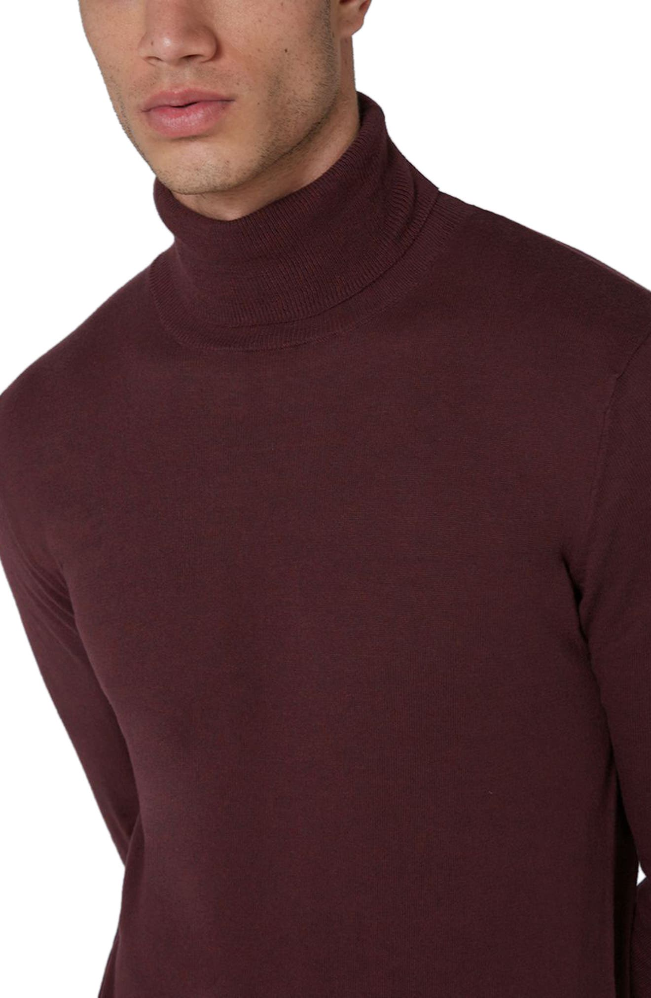 Cotton Turtleneck Sweater,                             Alternate thumbnail 9, color,