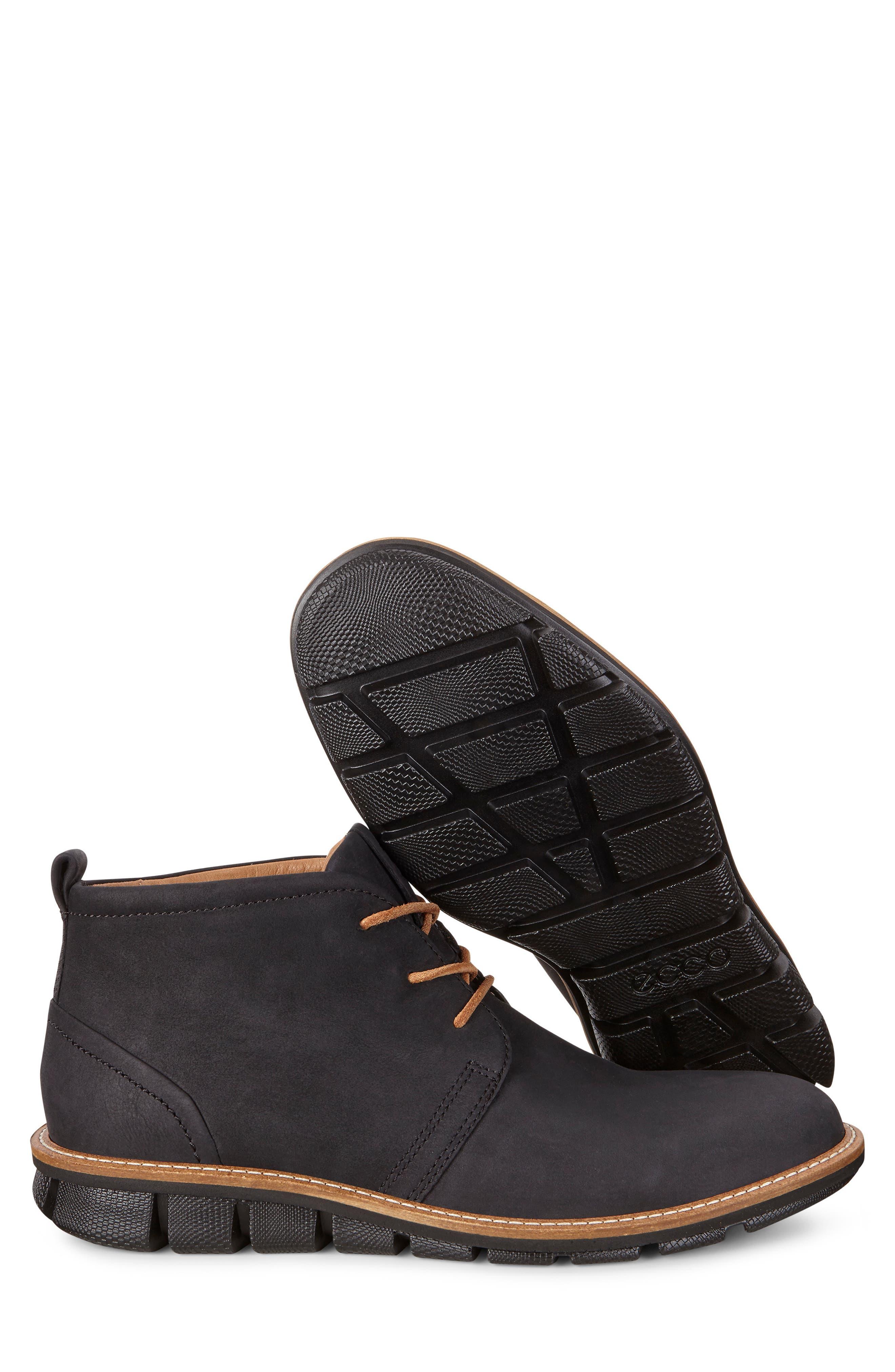 'Jeremy Hybrid' Plain Toe Boot,                             Alternate thumbnail 7, color,                             BLACK LEATHER