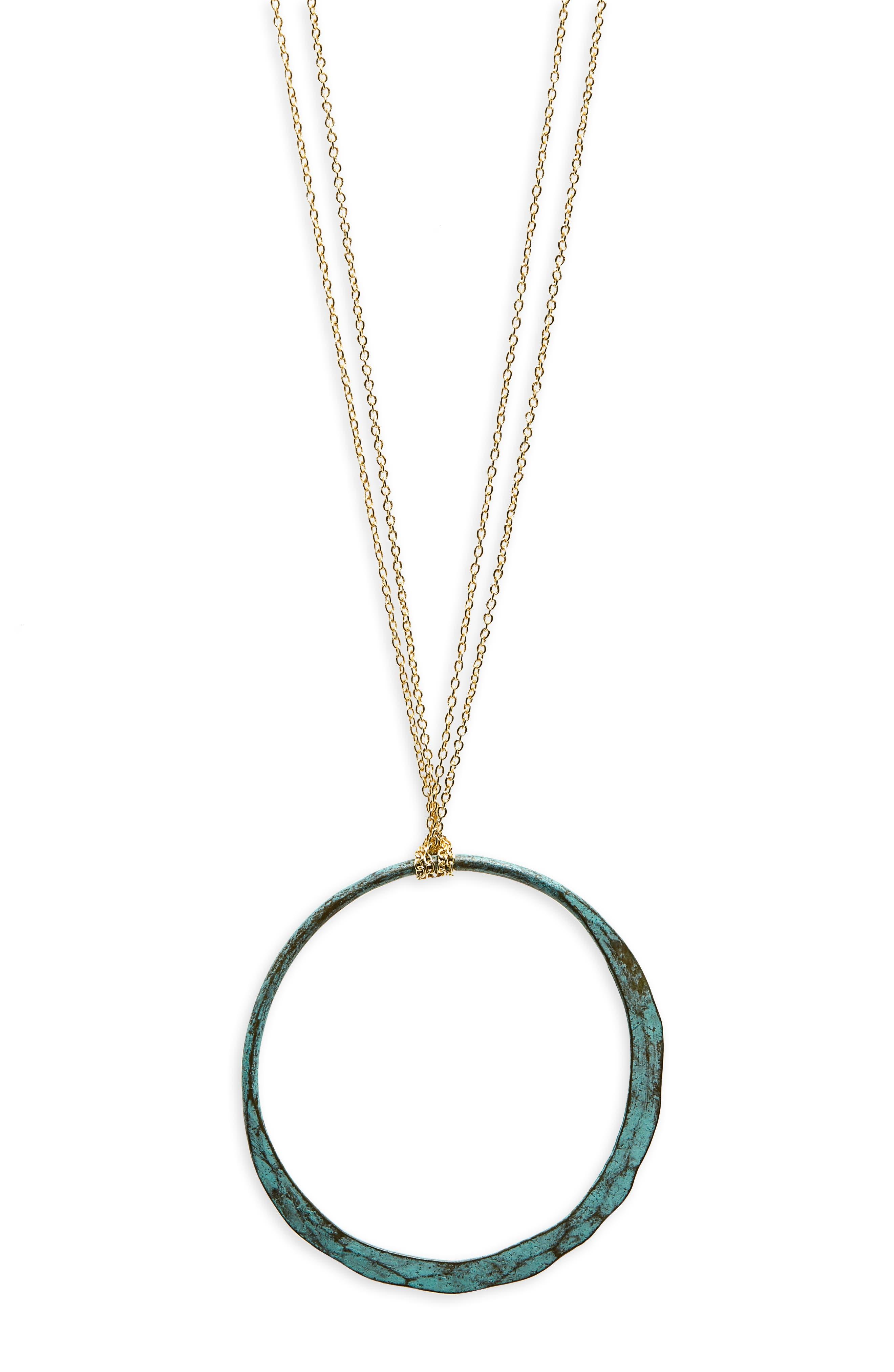 Circle Pendant Necklace,                             Alternate thumbnail 2, color,                             710
