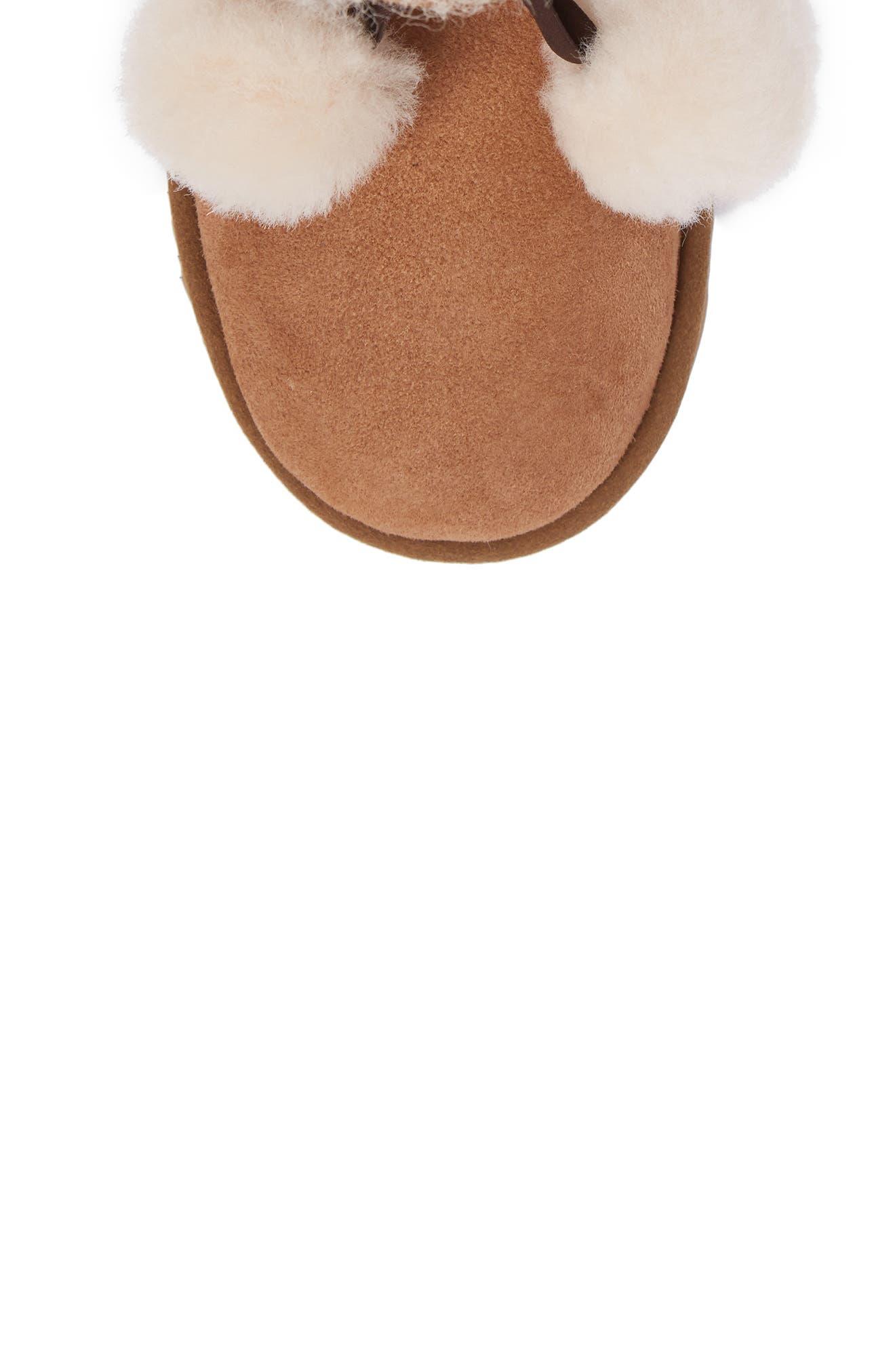Gita Water-Resistant Genuine Shearling Pom Boot,                             Alternate thumbnail 5, color,                             CHESTNUT