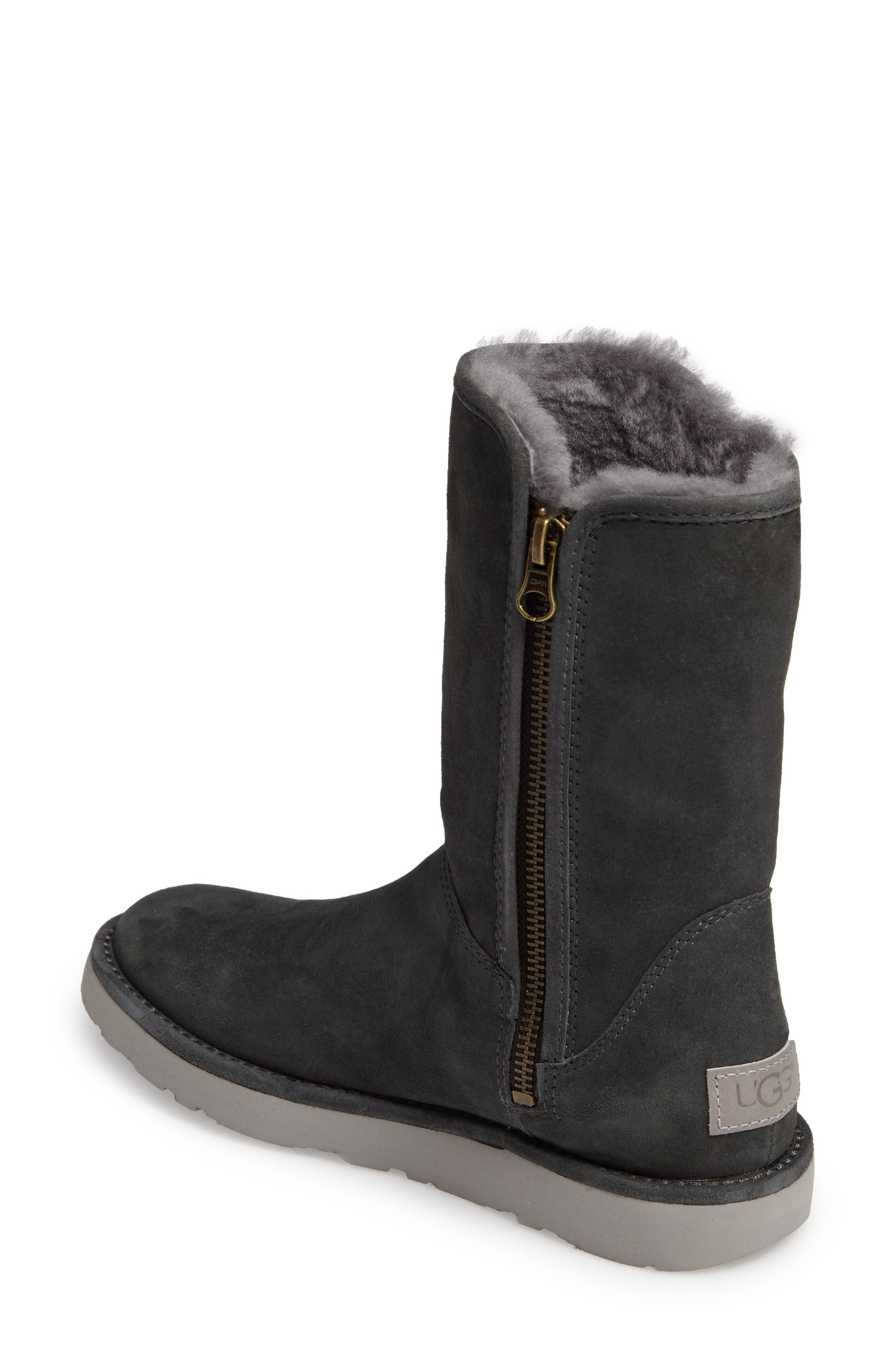 Abree II Short Boot,                             Alternate thumbnail 2, color,                             GRIGIO SUEDE