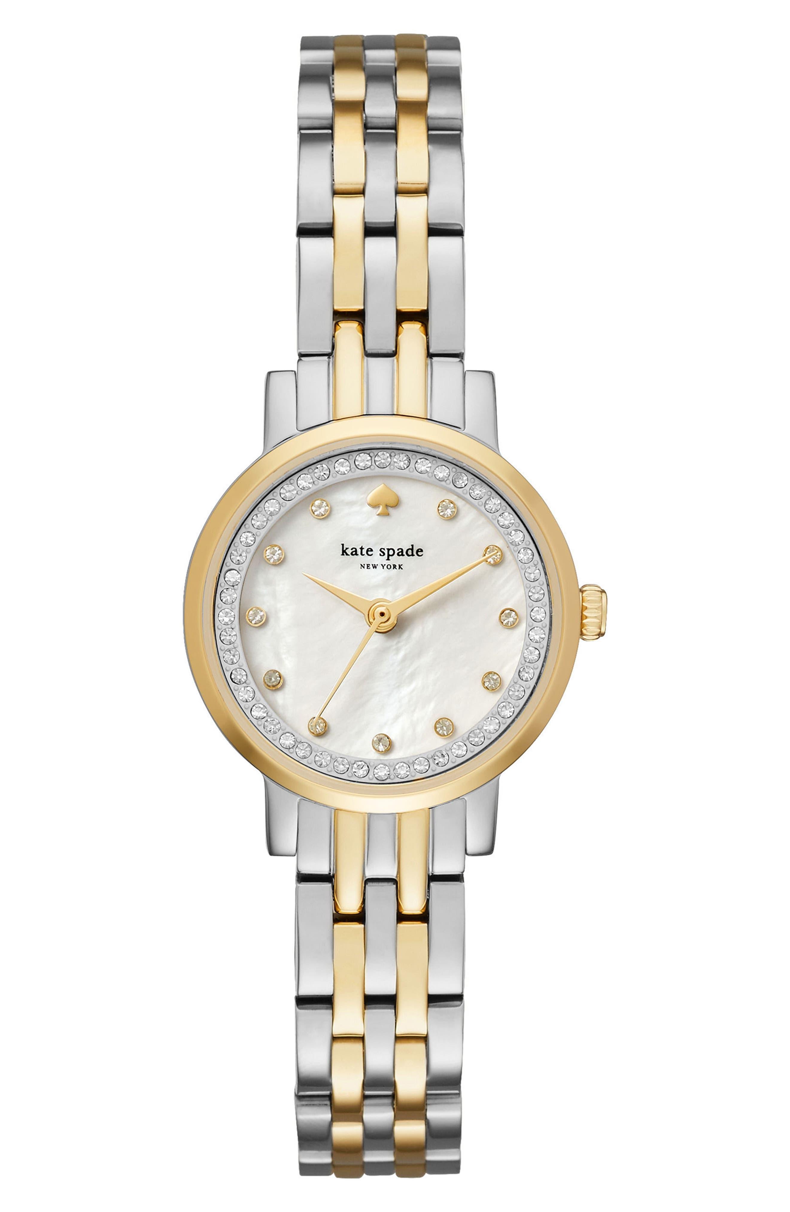 mini monterey glitz bracelet watch, 24mm,                         Main,                         color, 045