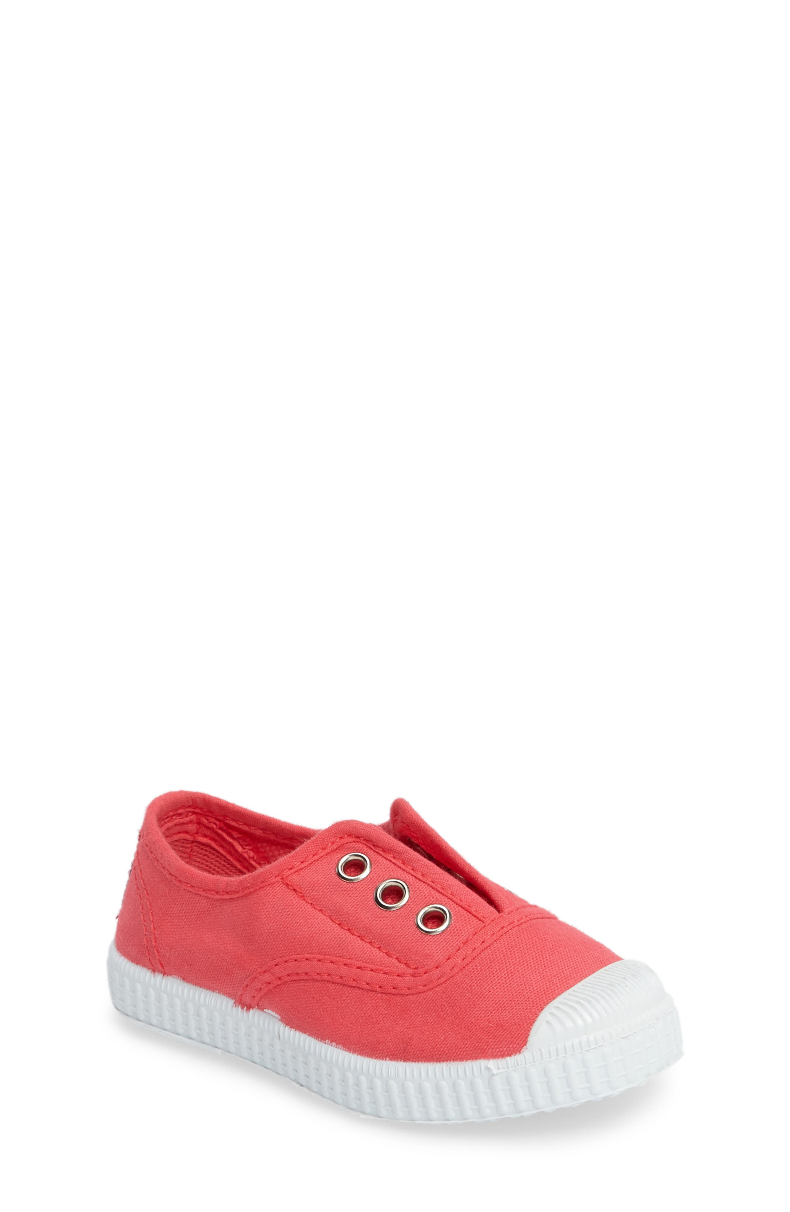 Laceless Slip-On Sneaker,                             Main thumbnail 1, color,                             CORAL