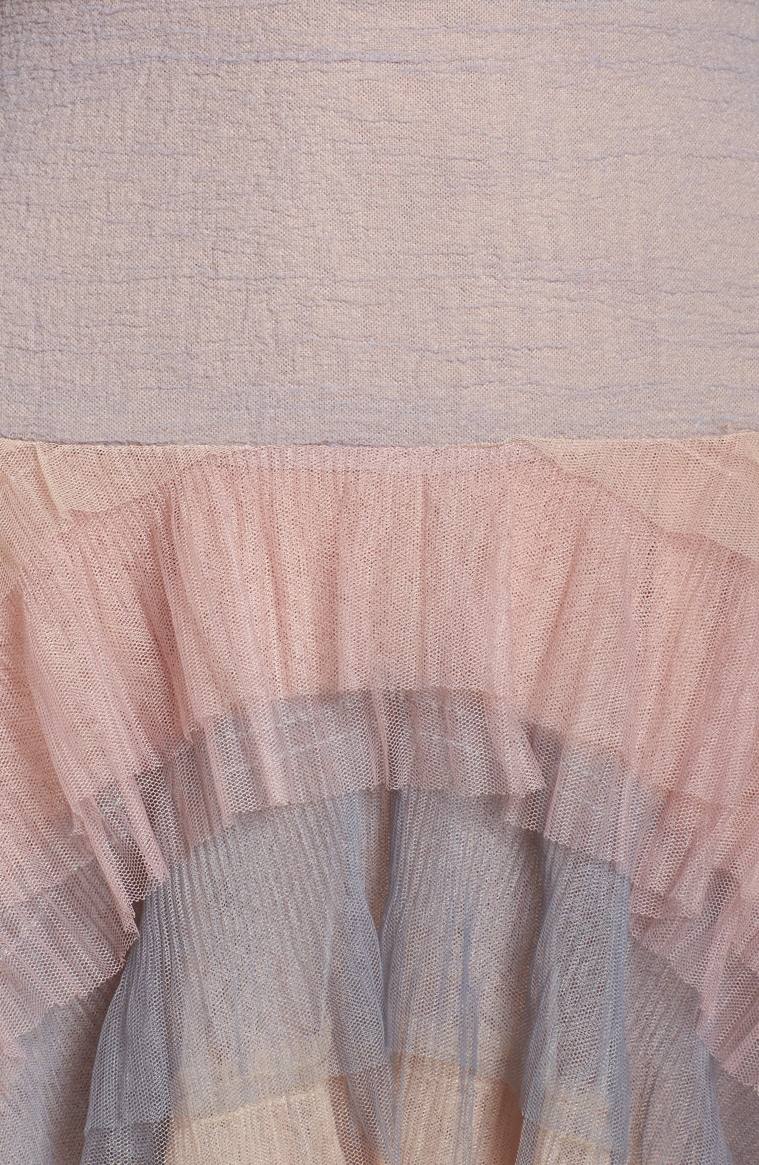 Amelia Tier Ruffle Gown,                             Alternate thumbnail 5, color,                             MULTICOLOR
