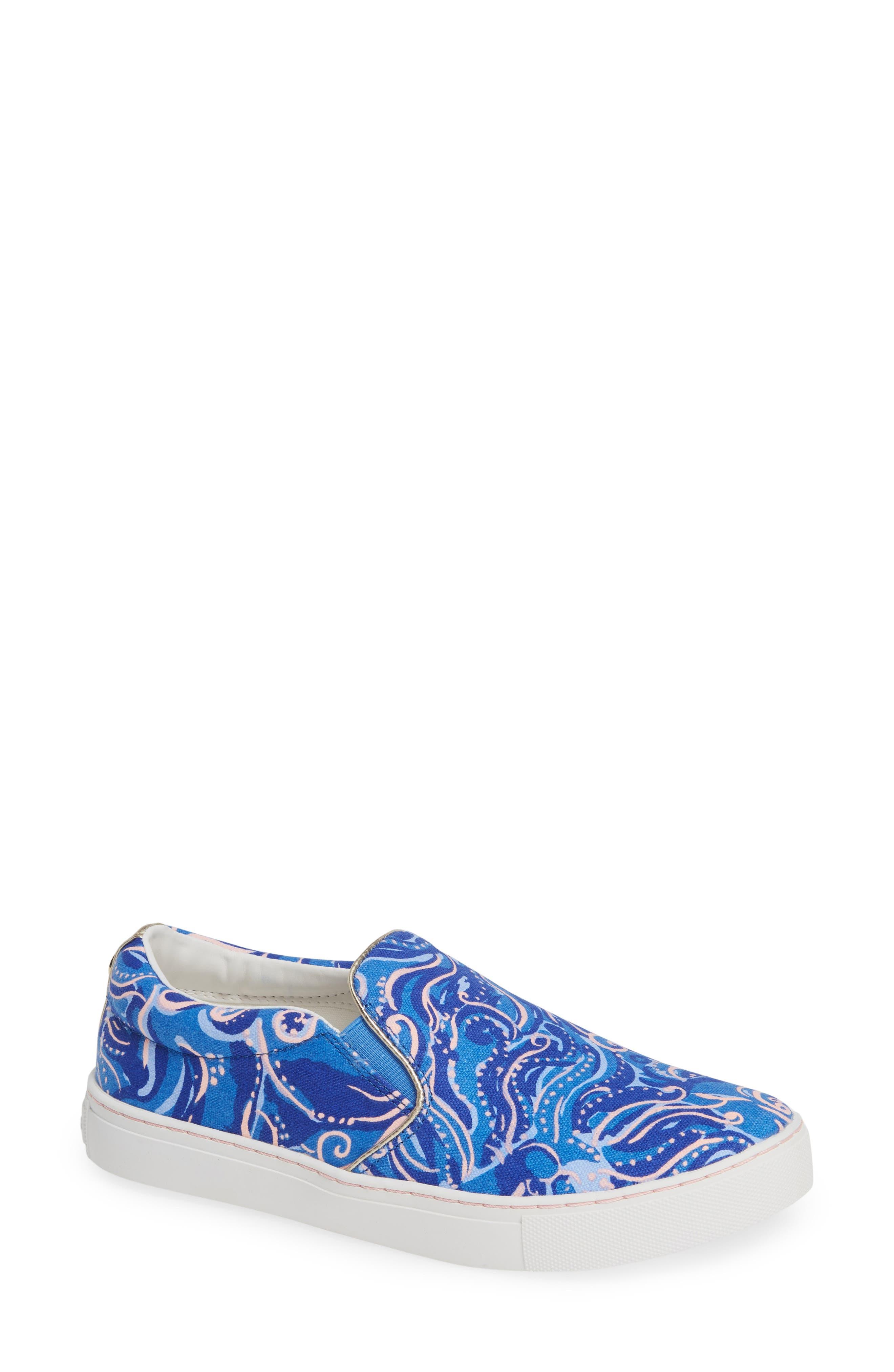 Julie Sneaker,                             Main thumbnail 1, color,                             COASTAL BLUE