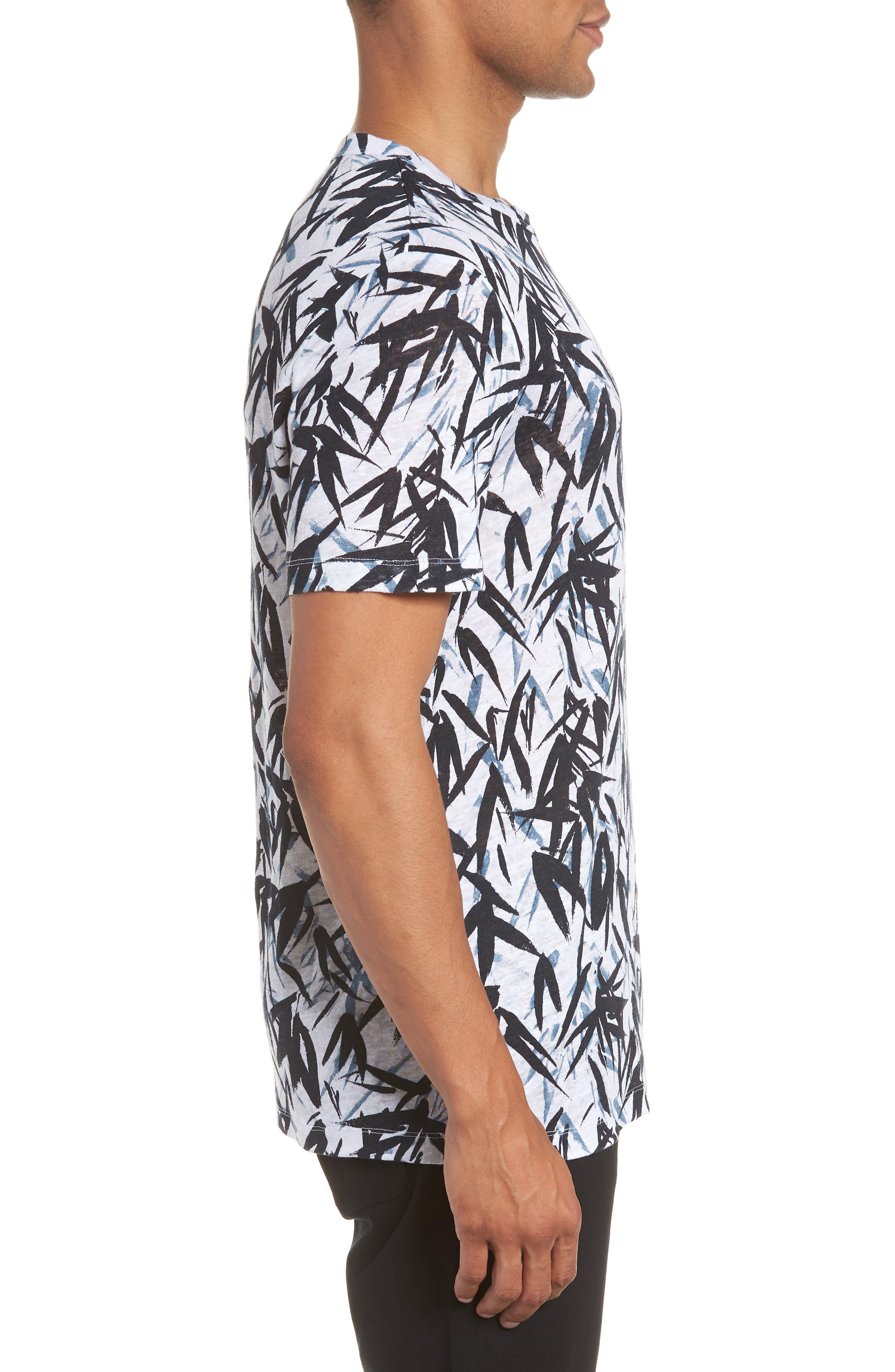 Essential Pinal Linen T-Shirt,                             Alternate thumbnail 3, color,                             HYDRO MULTI