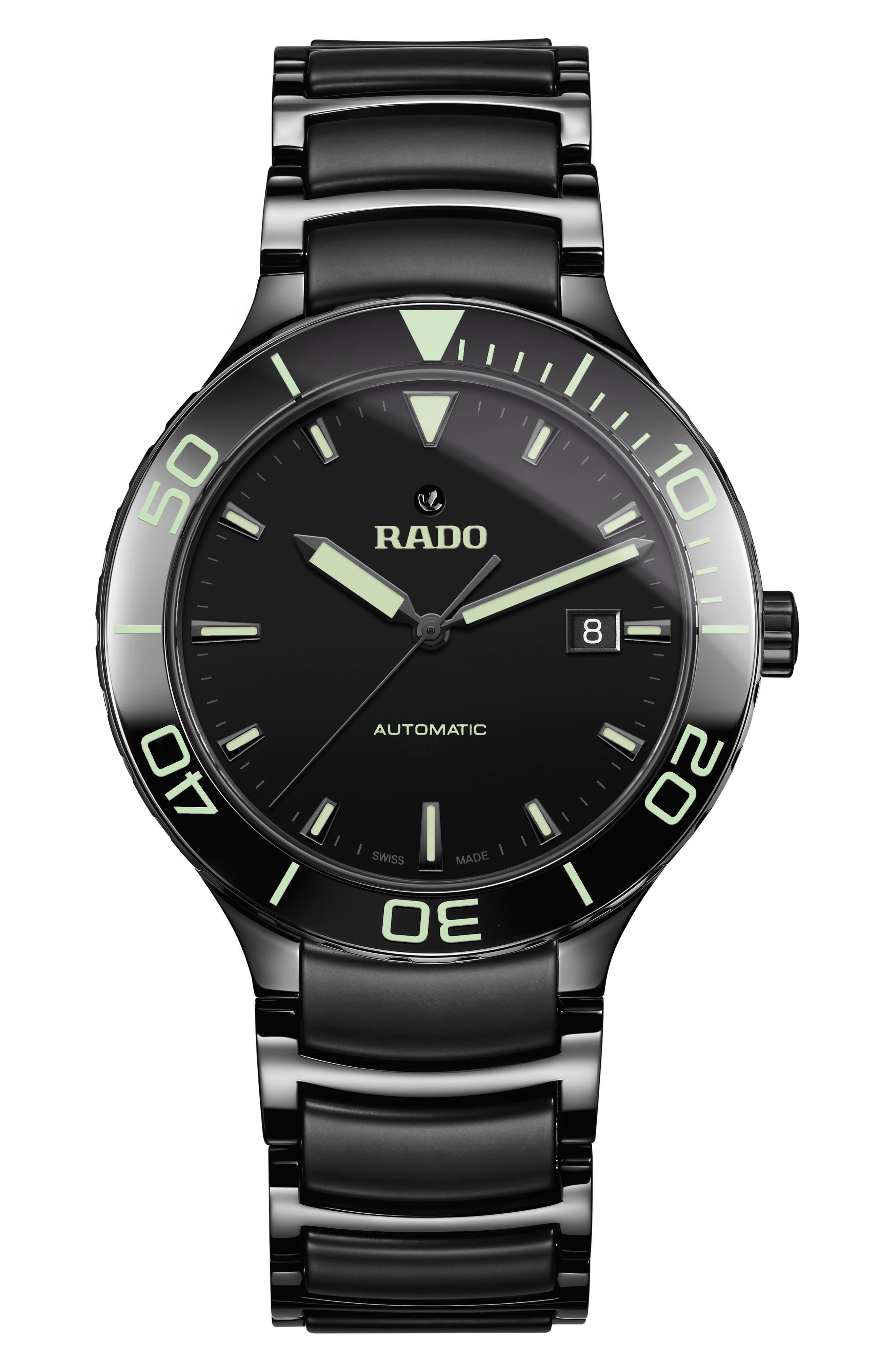 RADO Centrix Automatic Bracelet Watch, 42Mm in Black