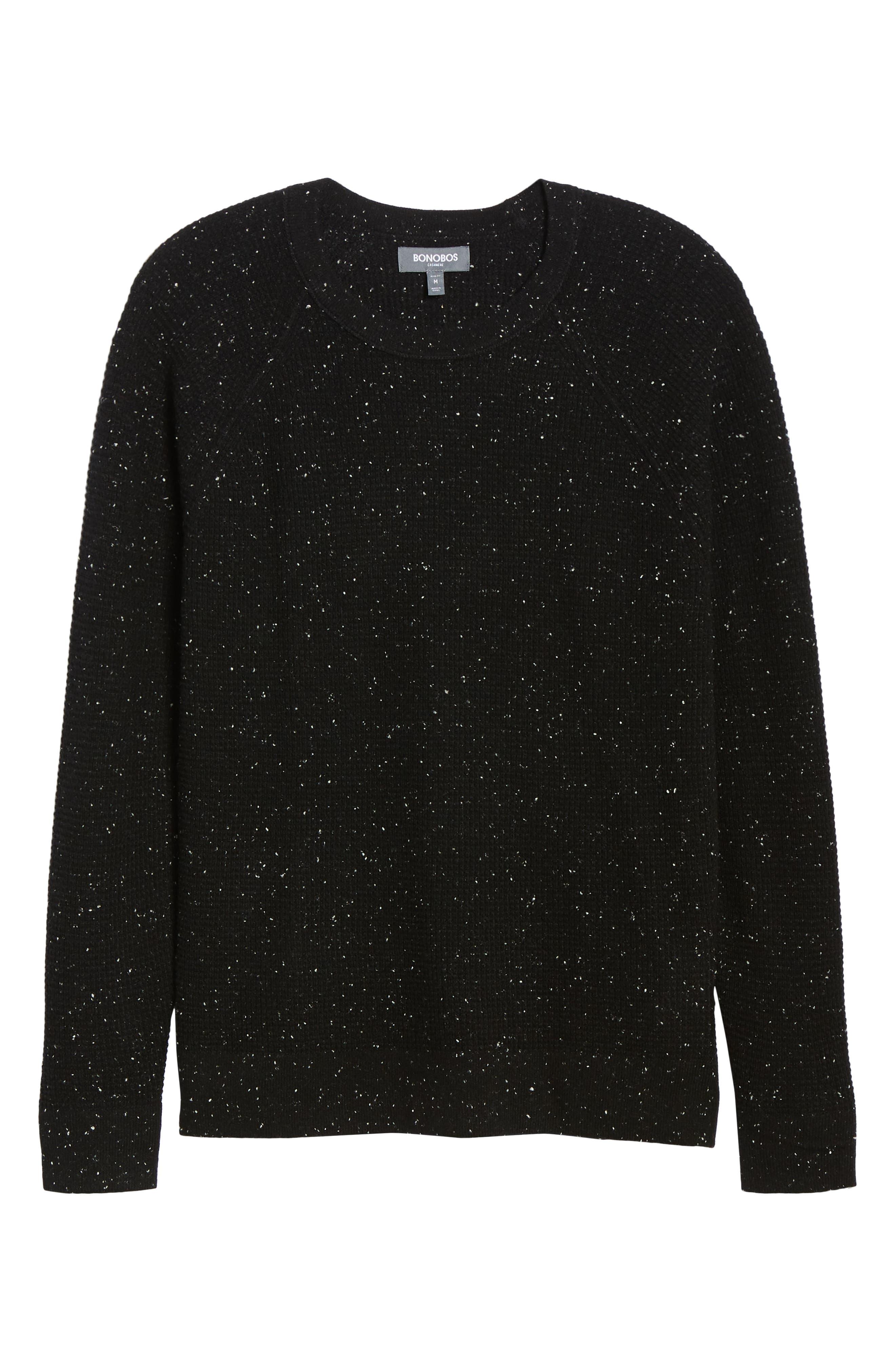 BONOBOS,                             Slim Fit Cashmere Sweater,                             Alternate thumbnail 6, color,                             001
