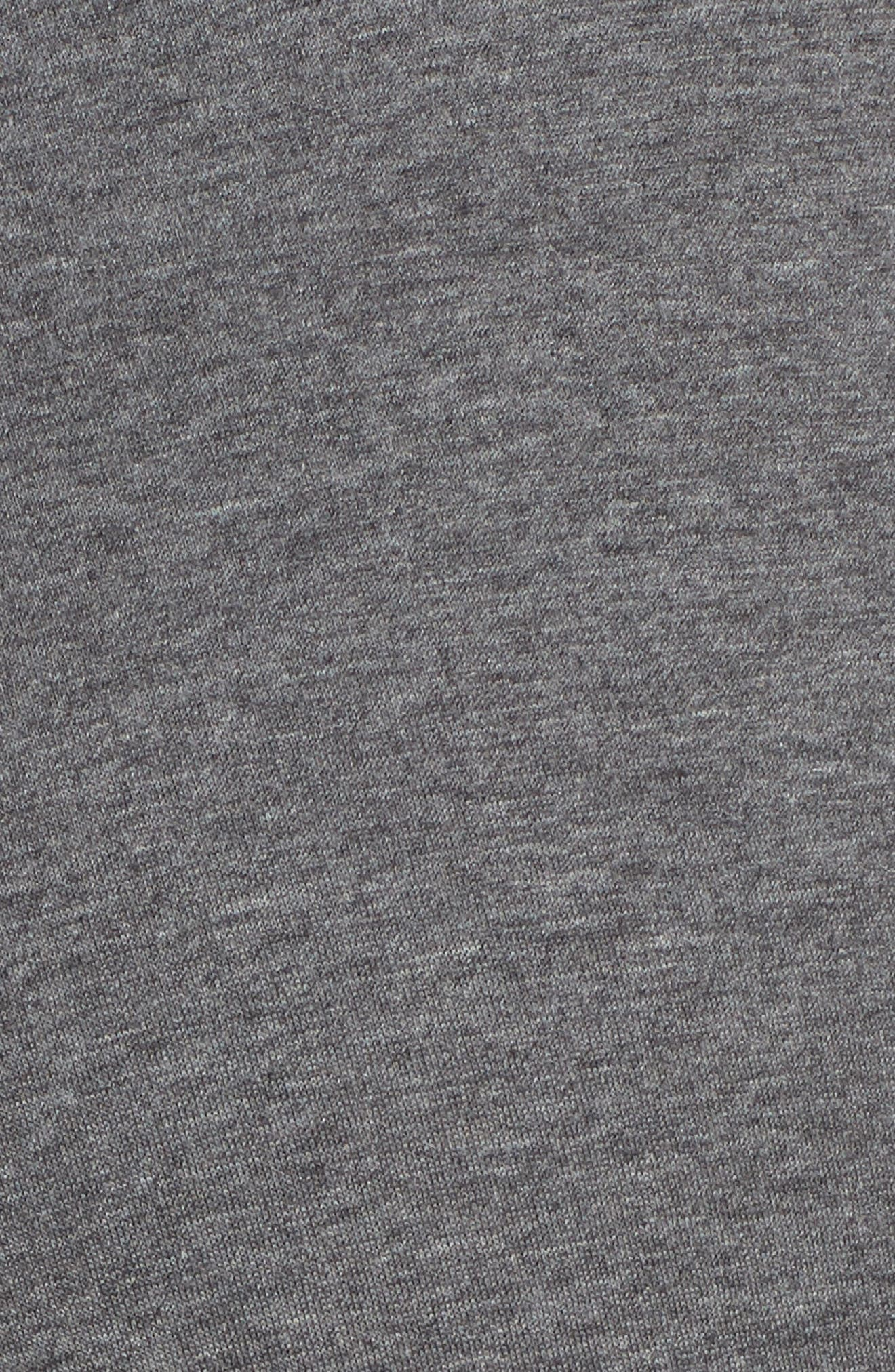 Heathered Cotton Blend Leggings,                             Alternate thumbnail 5, color,                             HEATHER CHARCOAL