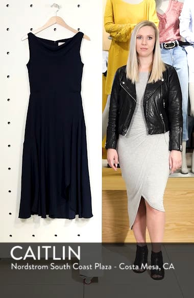 Juliet Cowl Neck Crepe Dress, sales video thumbnail