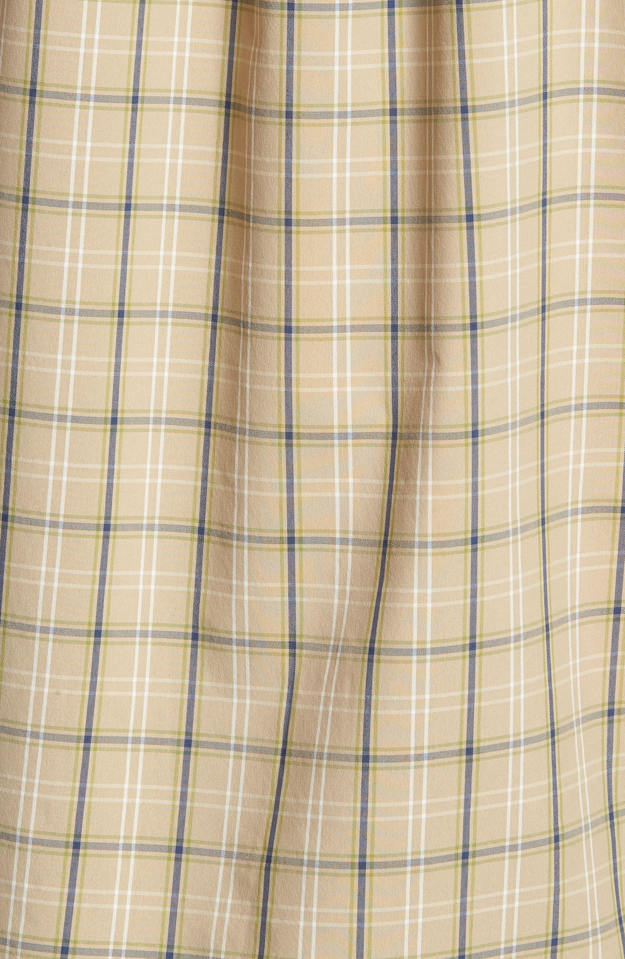 M's High Moss Plaid Sport Shirt,                             Alternate thumbnail 5, color,                             EL CAP KHAKI