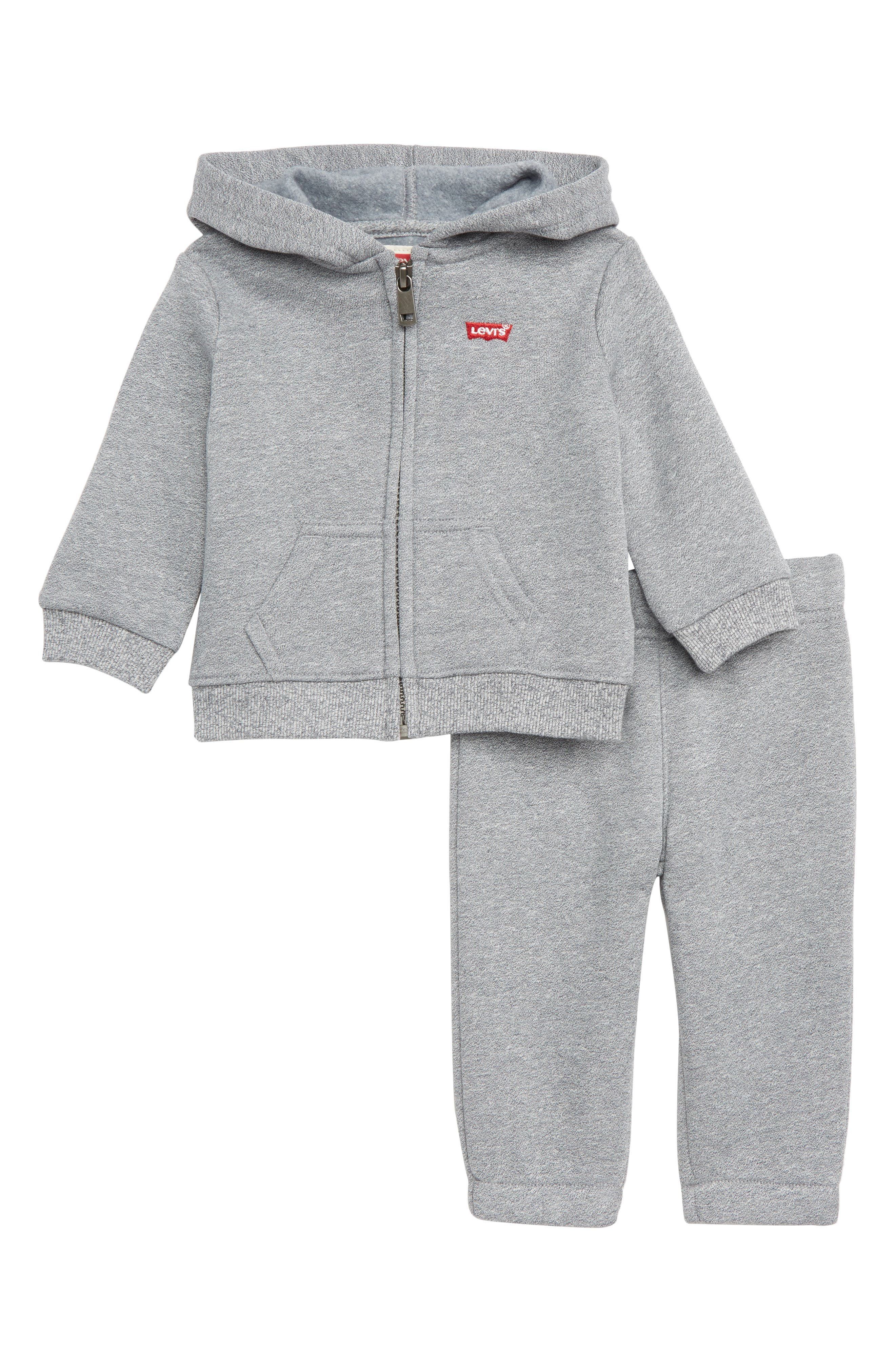 Marled Two Piece Hoodie Set,                             Main thumbnail 1, color,                             MARLED GREY