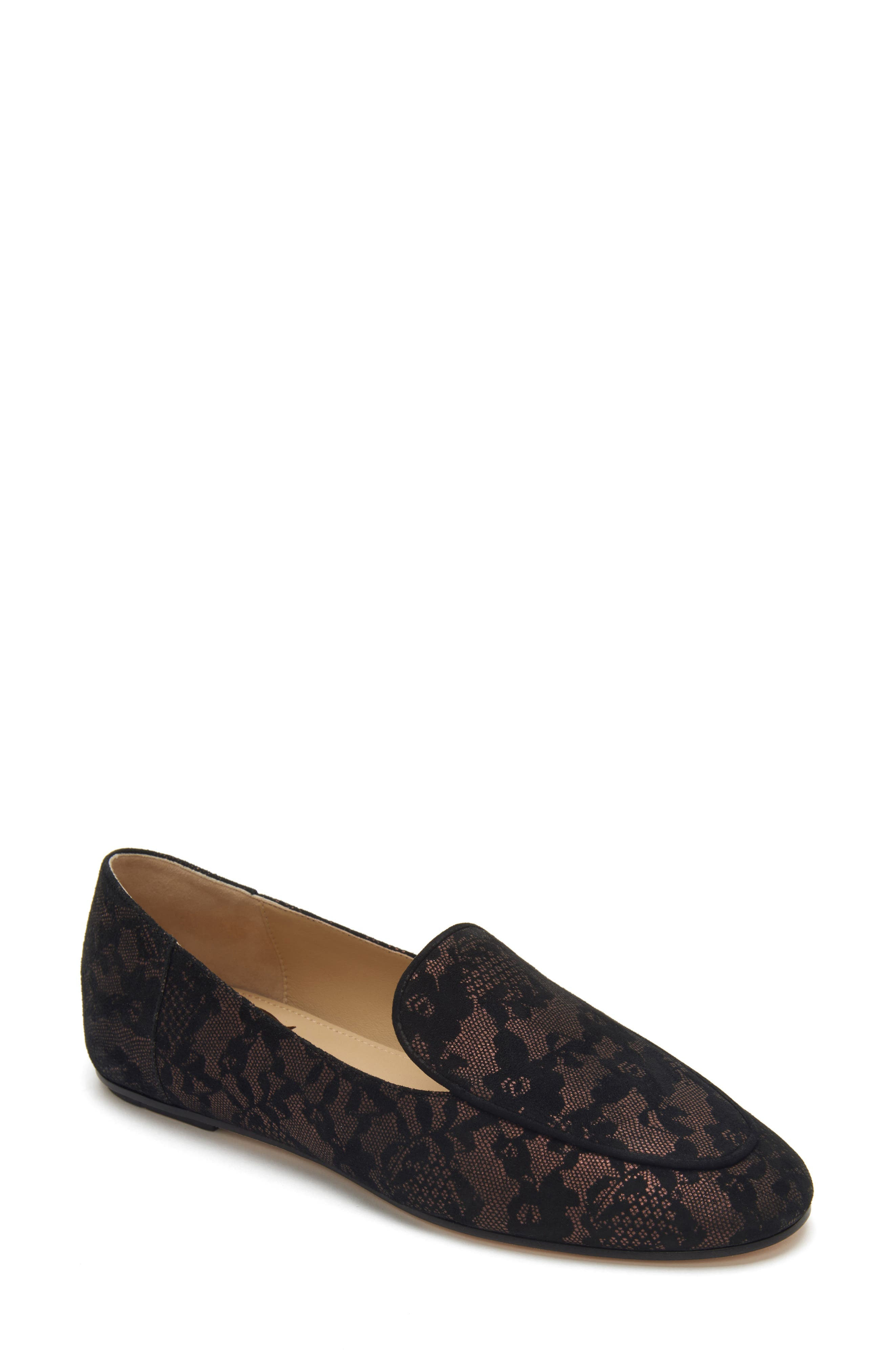 Camille Loafer,                             Main thumbnail 1, color,                             DARK BROWN SUEDE