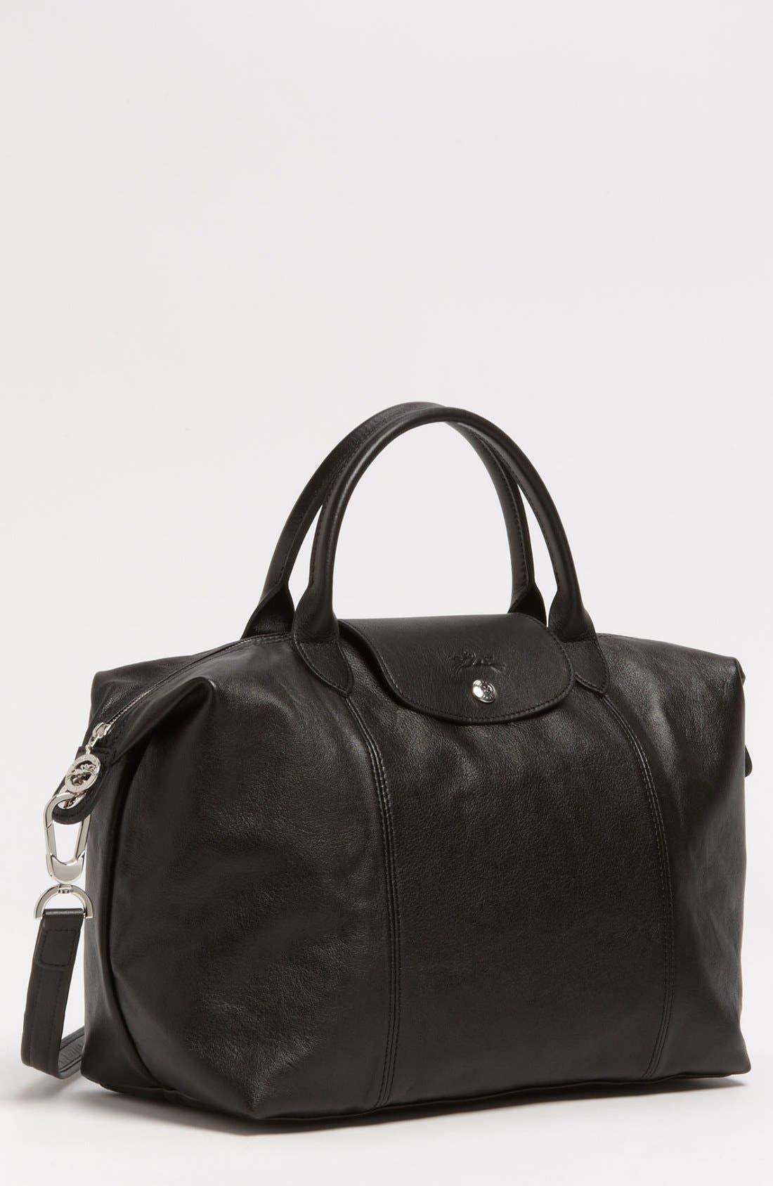 Longchamp medium le pliage cuir leather top handle tote nordstrom jpg  780x838 Pliage cuir travel longchamp d2a8af4f05017