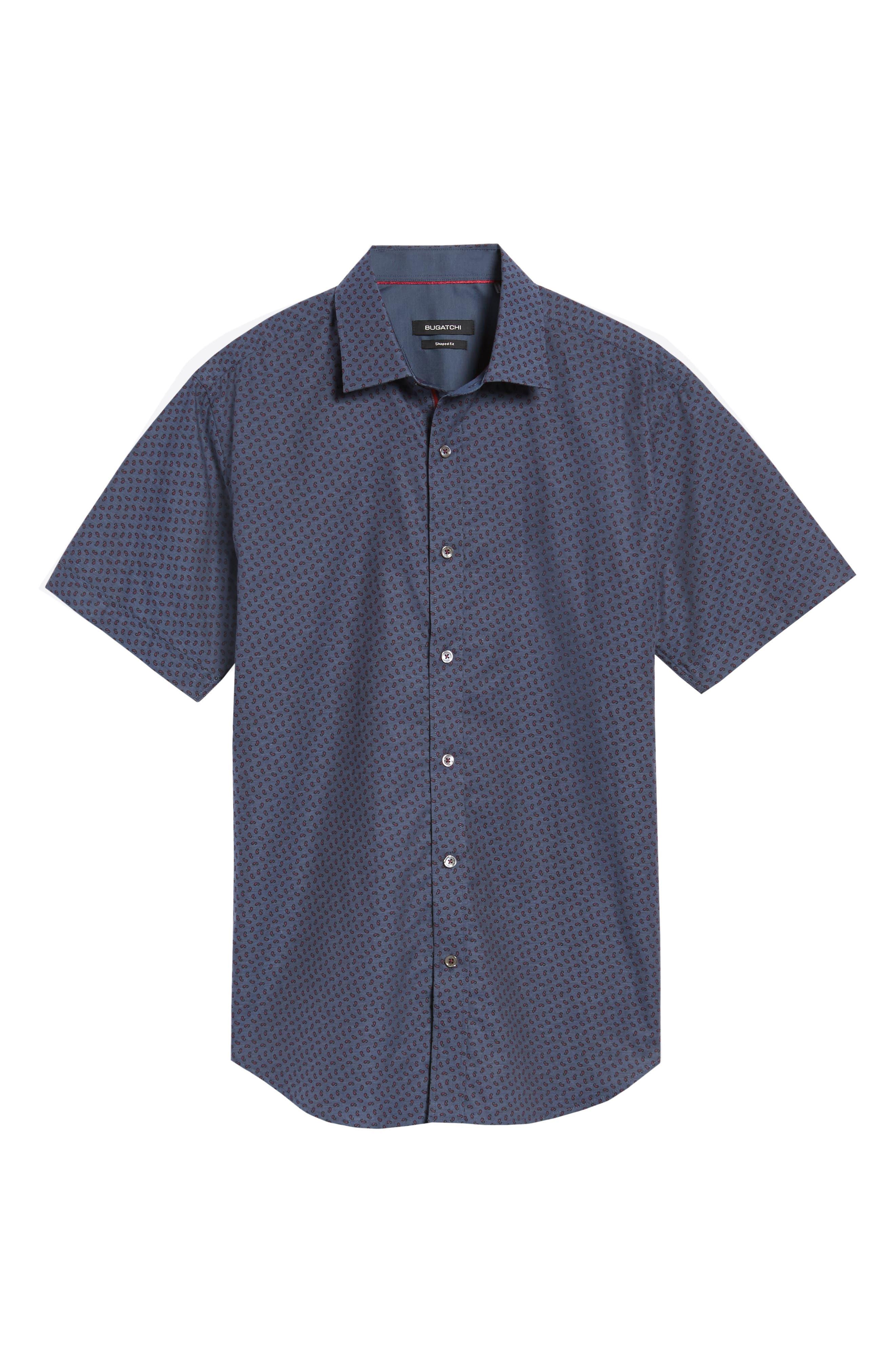 Shaped Fit Print Sport Shirt,                             Alternate thumbnail 6, color,                             030