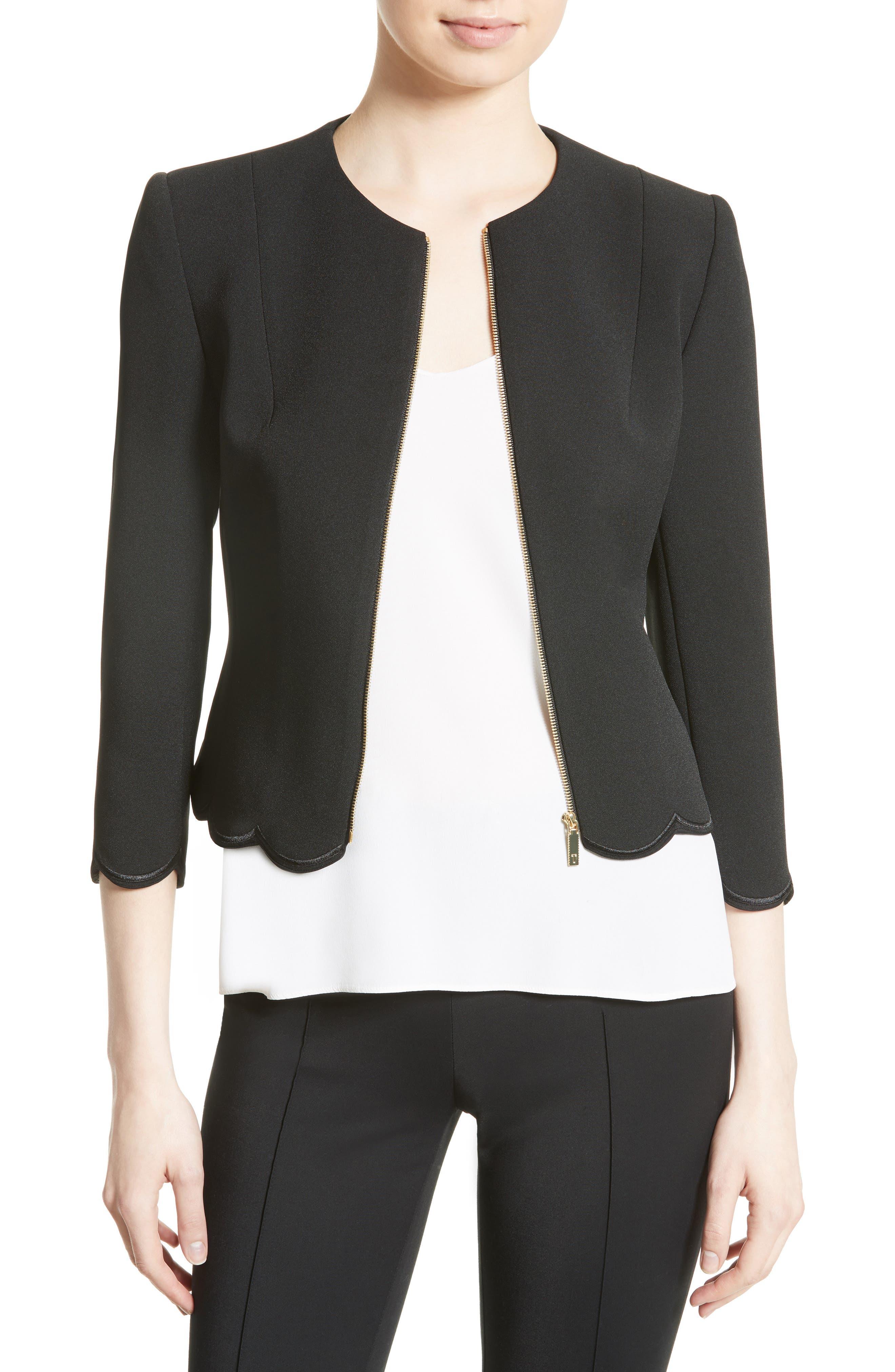 Heraly Crop Jacket,                         Main,                         color, 001
