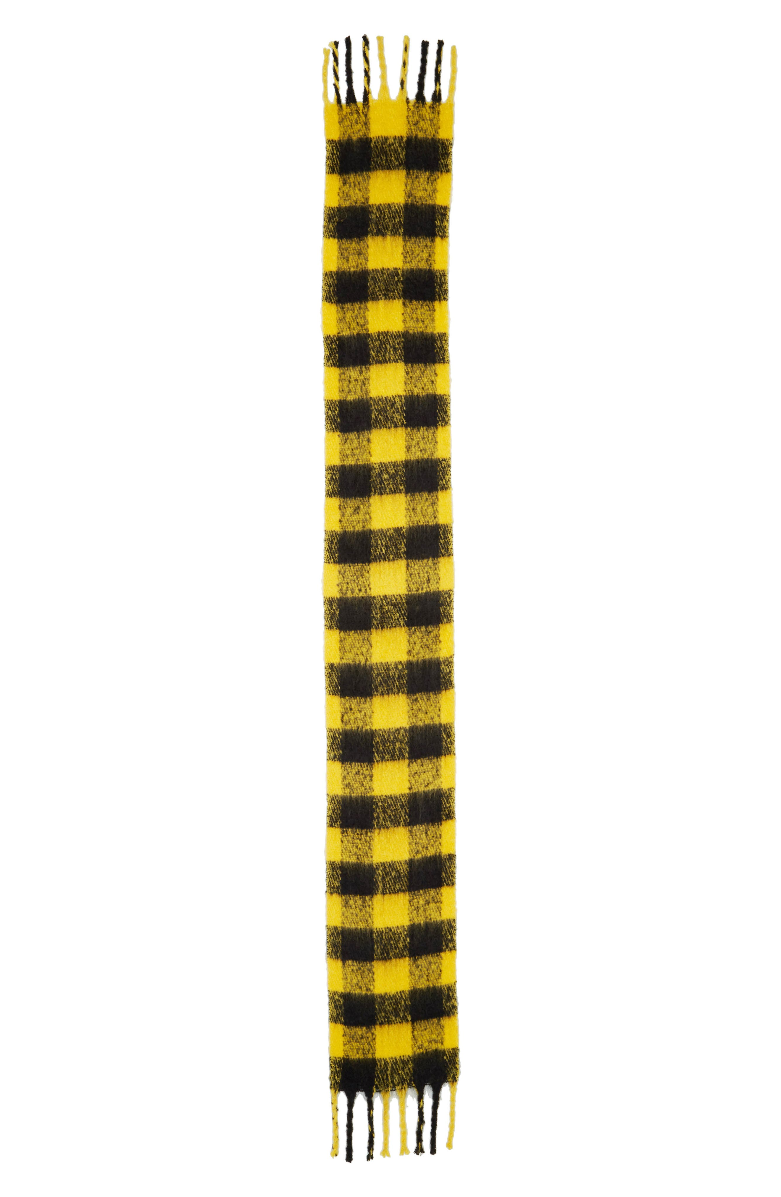 Heavy Punk Check Scarf,                             Alternate thumbnail 3, color,                             YELLOW MULTI