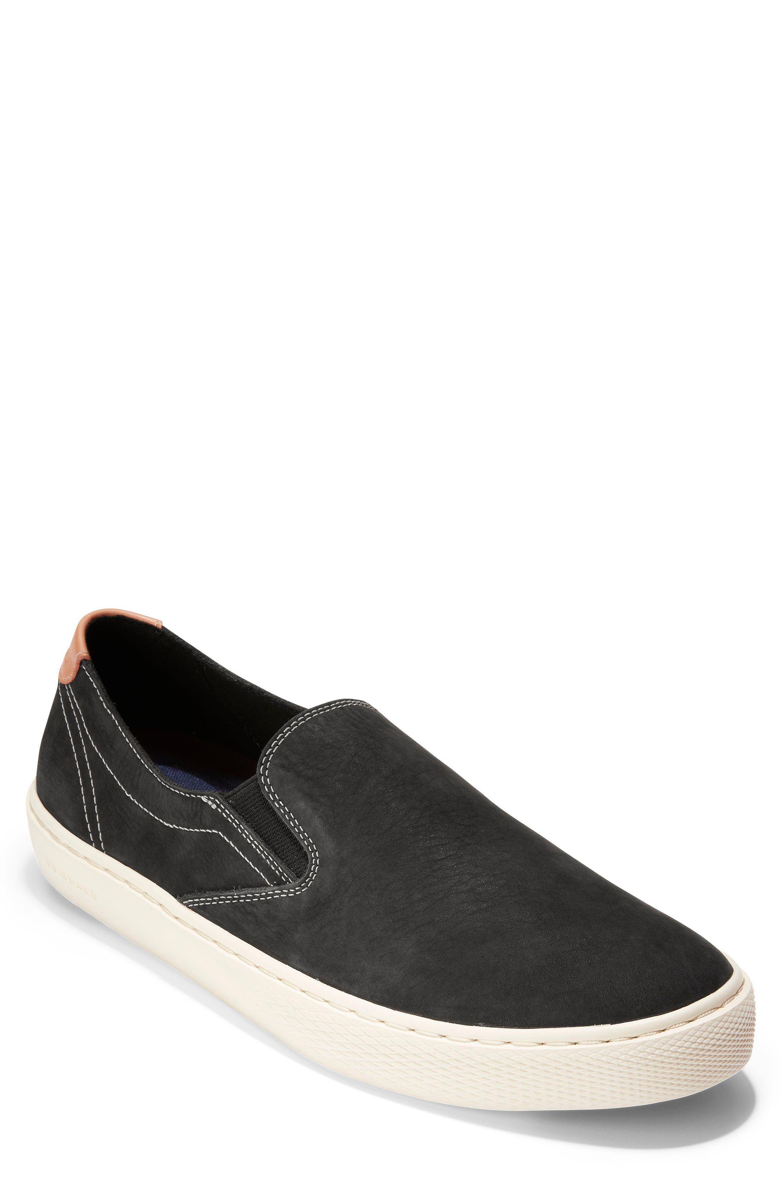 GrandPrø Deck Slip-On Sneaker,                         Main,                         color, BLACK NUBUCK