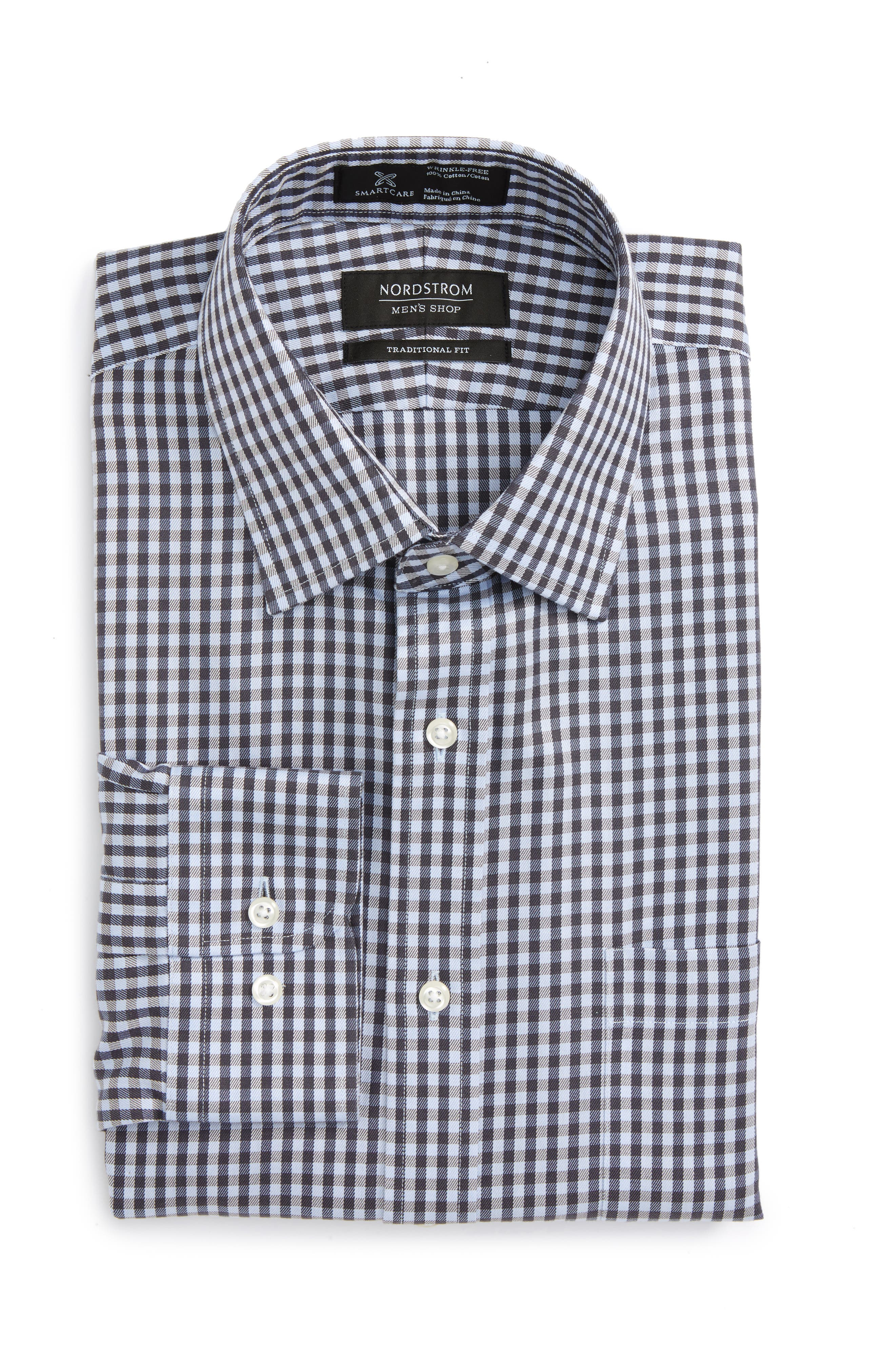 Smartcare<sup>™</sup> Traditional Fit Check Dress Shirt,                             Alternate thumbnail 5, color,                             021