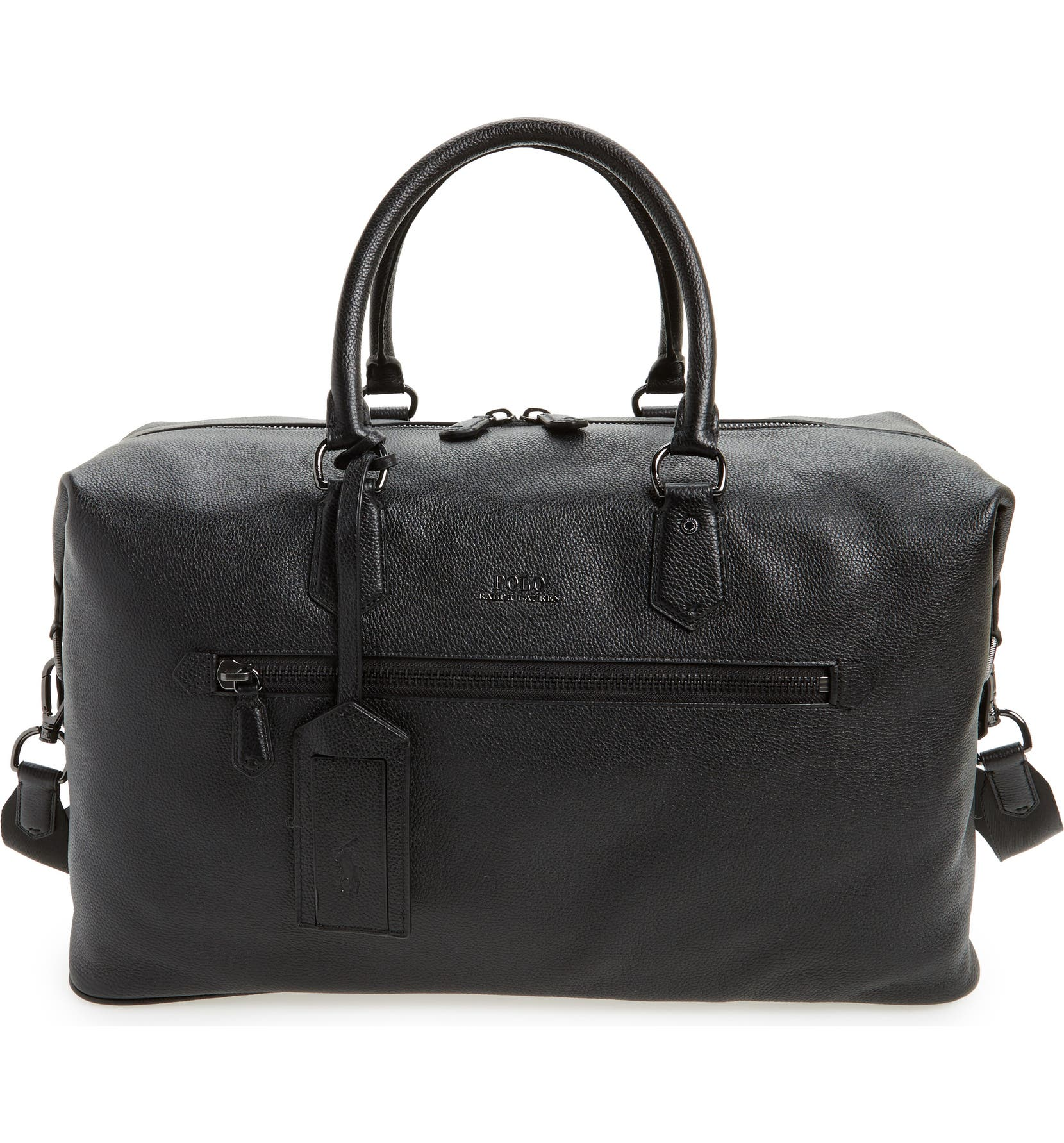 Polo Ralph Lauren Pebbled Leather Duffel Bag  93ad69a4fedb2