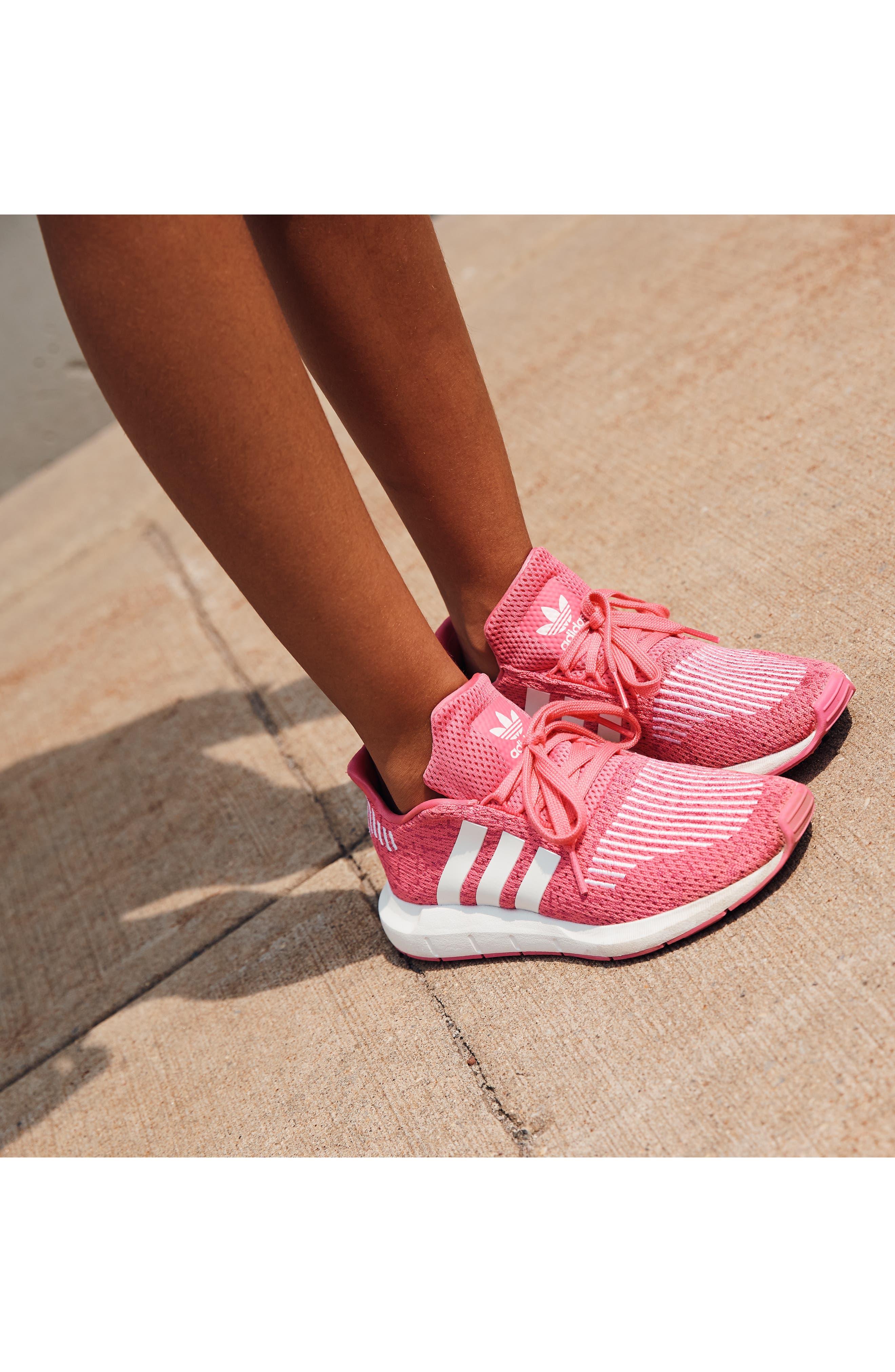 Swift Run J Sneaker,                             Alternate thumbnail 8, color,                             SEMI SOLAR PINK/ WHITE