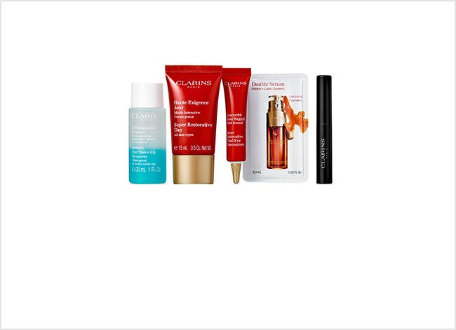 Clarins beauty gift with purchase.