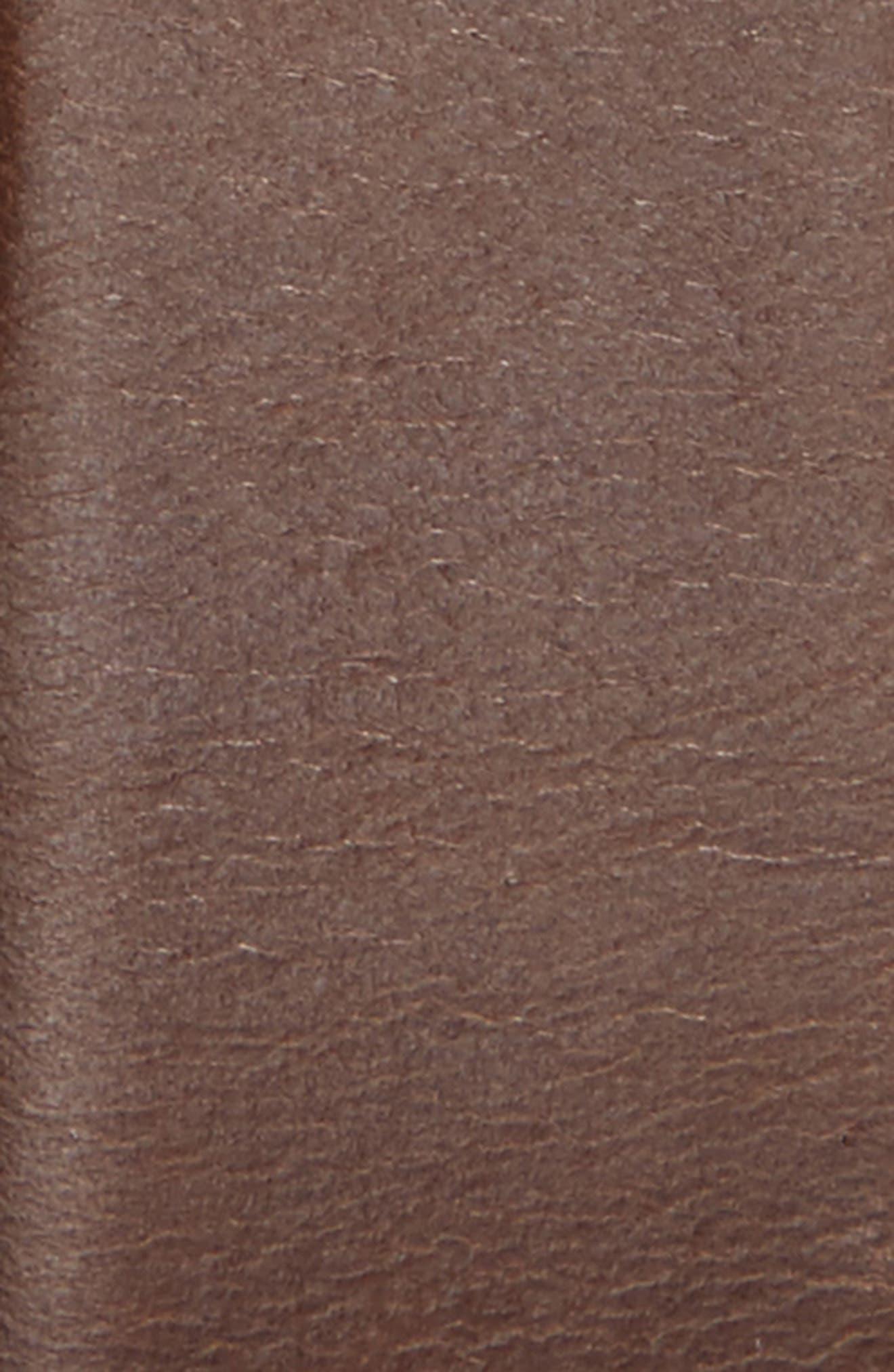 Celie Leather Belt,                             Alternate thumbnail 2, color,                             DARK BROWN