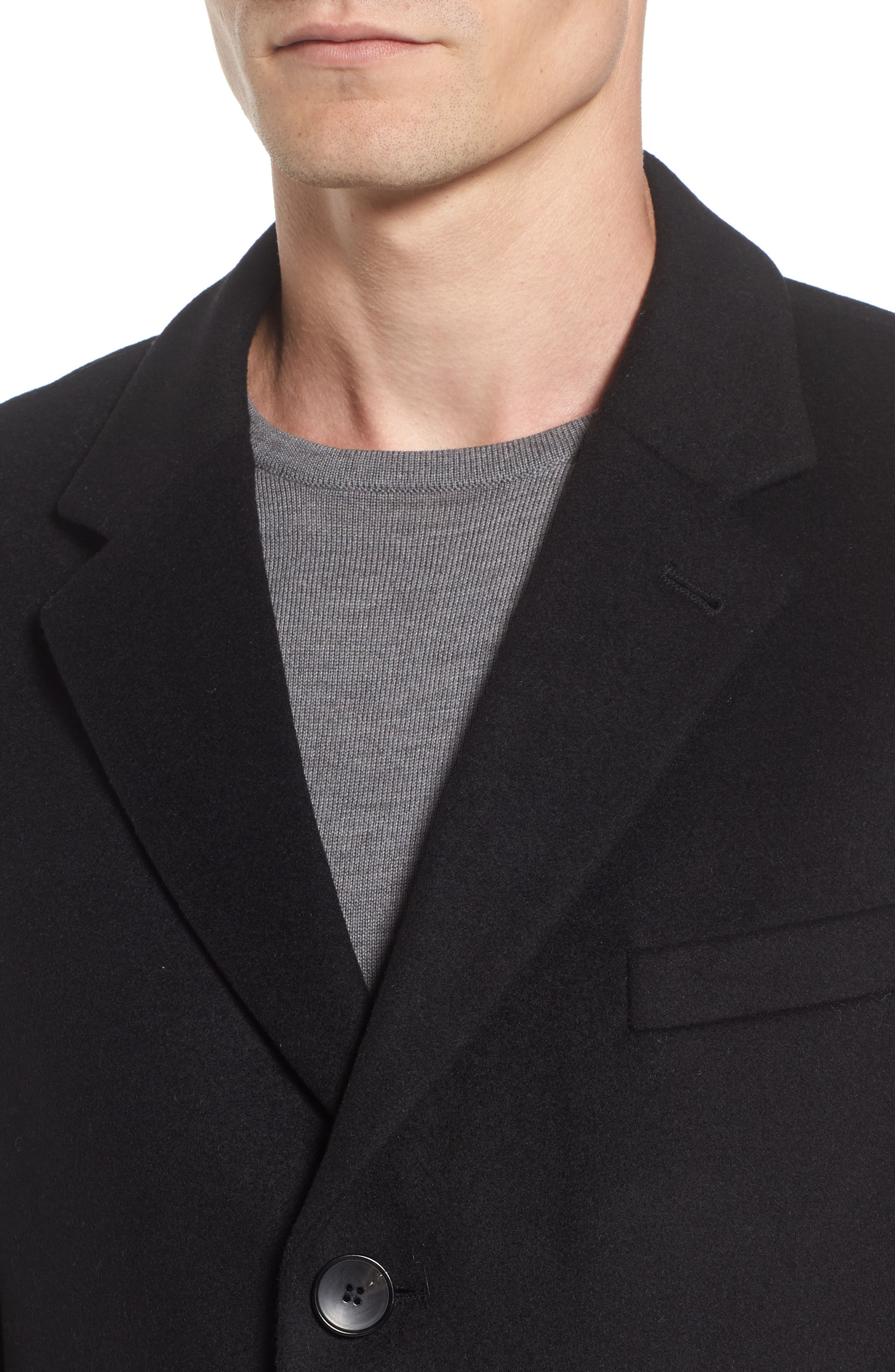 Nye Wool & Cashmere Topcoat,                             Alternate thumbnail 4, color,                             001