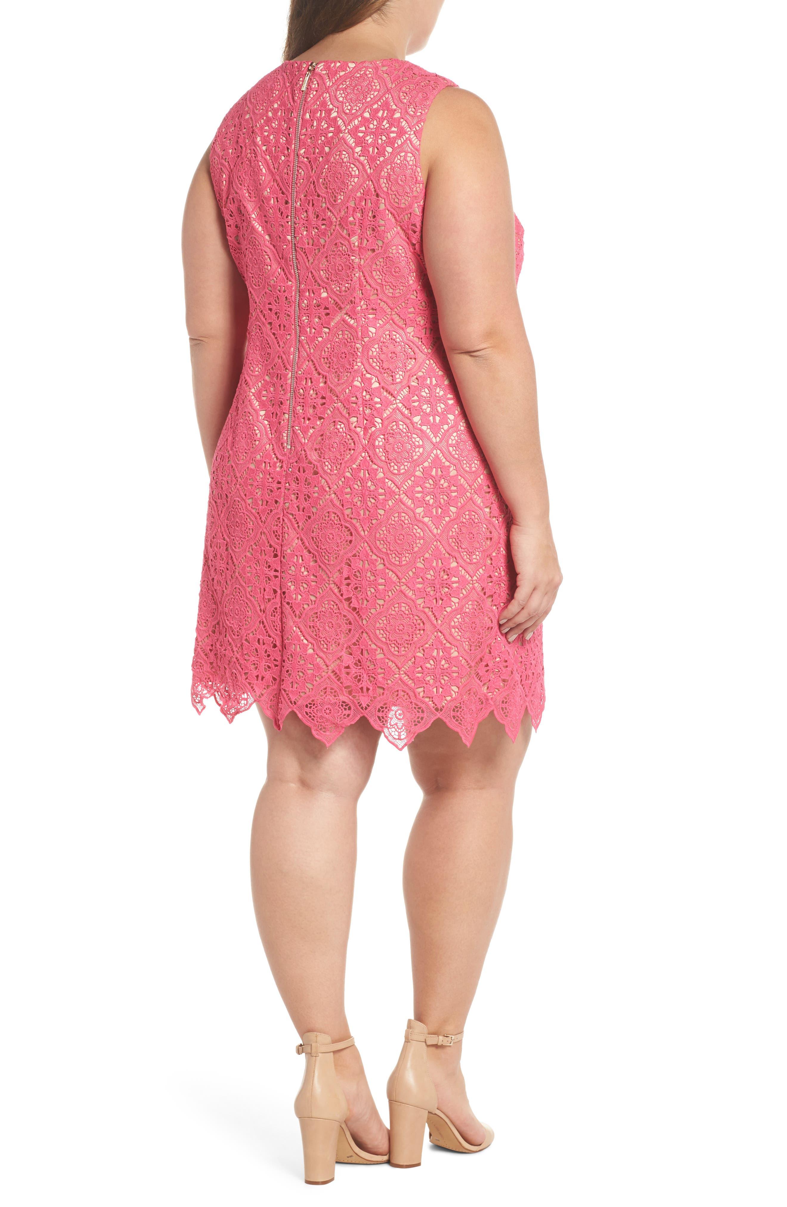 Lace Sleeveless Shift Dress,                             Alternate thumbnail 2, color,                             670