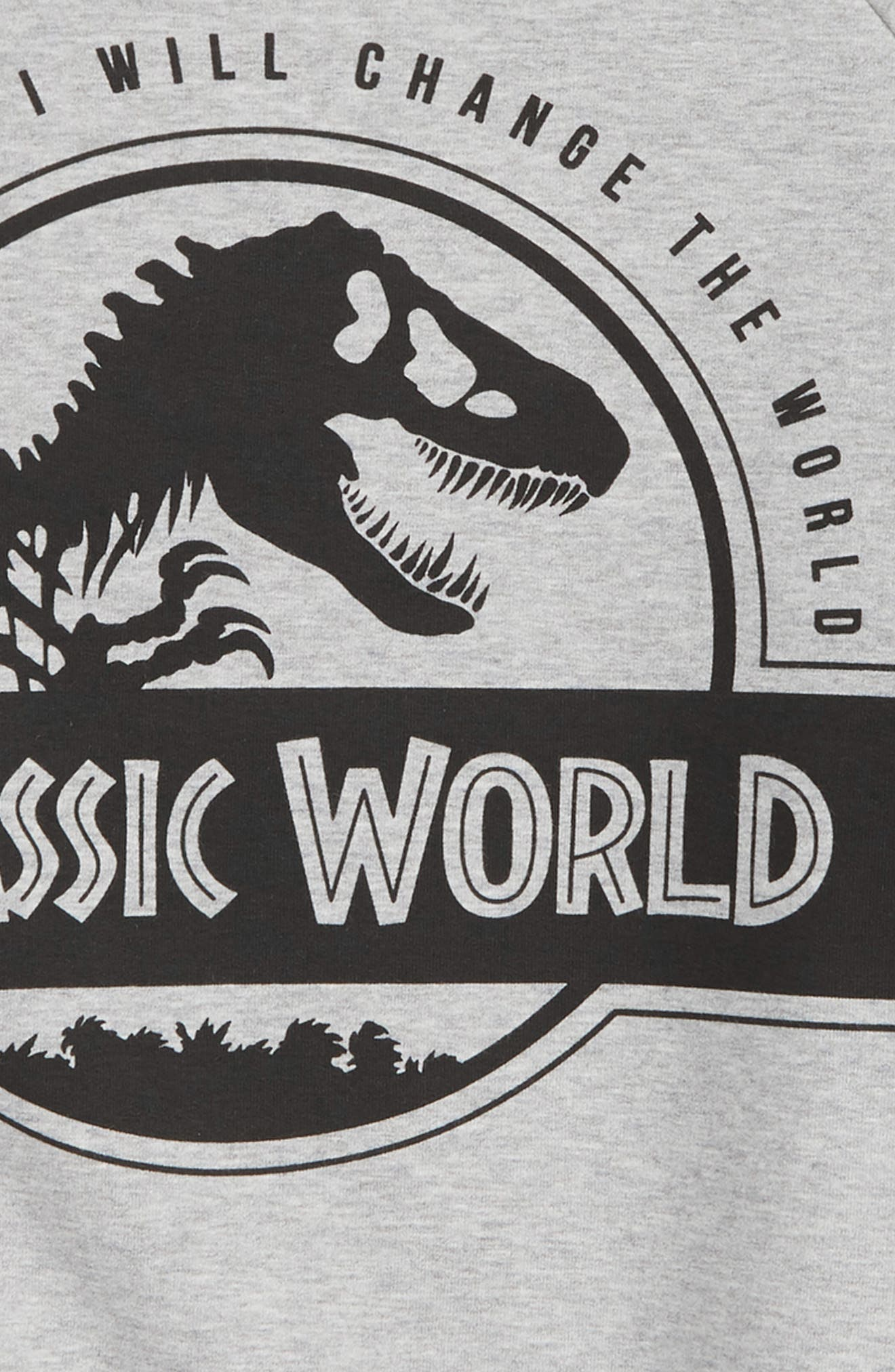 x Jurassic World Rex Graphic Organic Cotton Sweatshirt,                             Alternate thumbnail 2, color,                             020