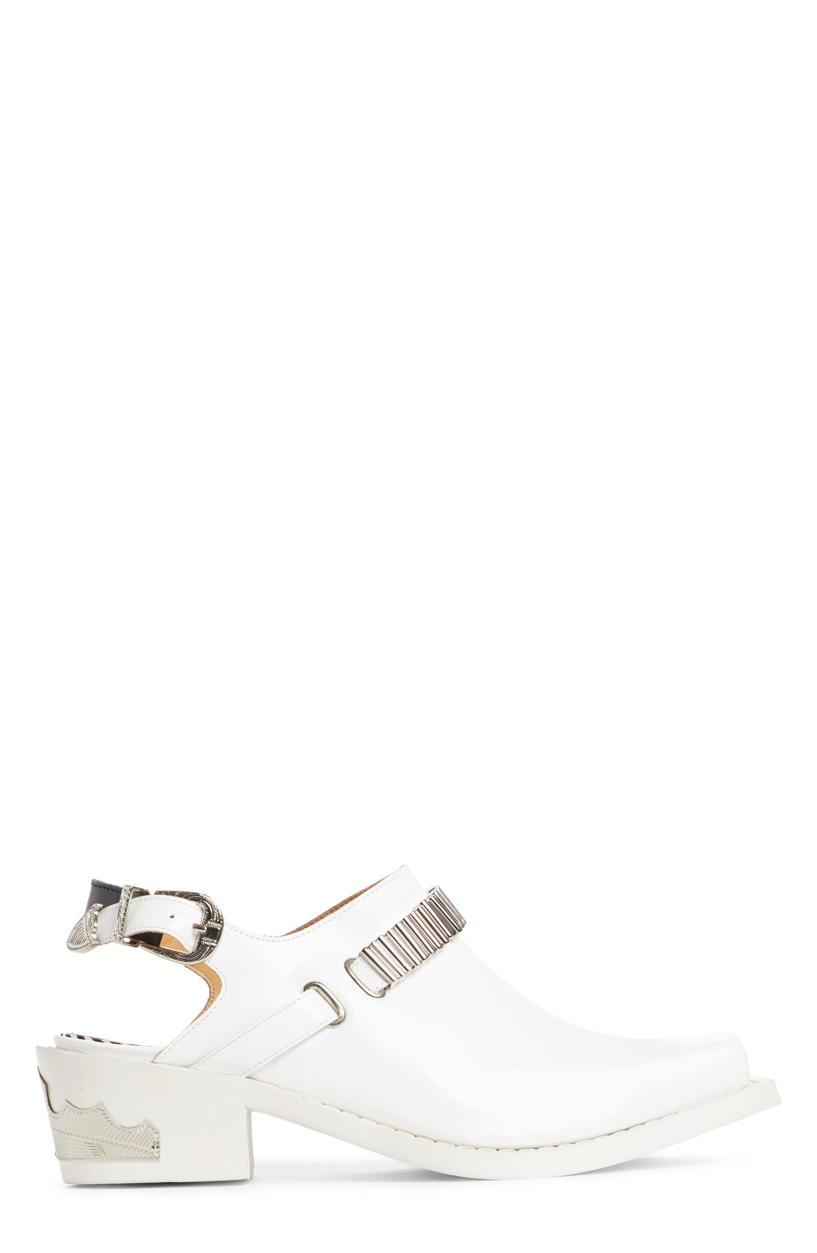 Embellished Slingback Shoe,                             Alternate thumbnail 3, color,                             WHITE POLIDO