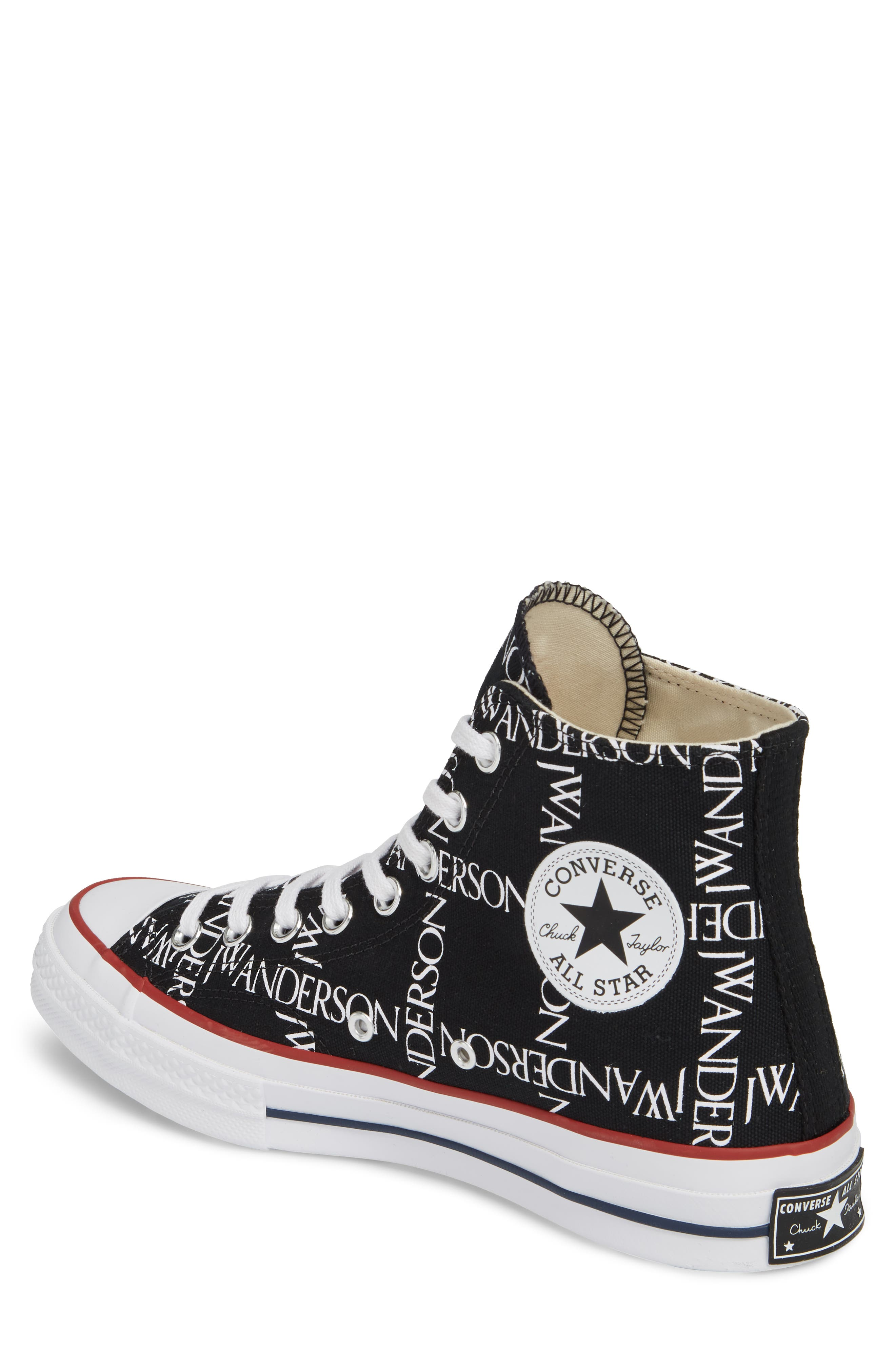 x JW Anderson Chuck Taylor<sup>®</sup> All Star<sup>®</sup> 70 Grid Sneaker,                             Alternate thumbnail 2, color,                             BLACK CANVAS
